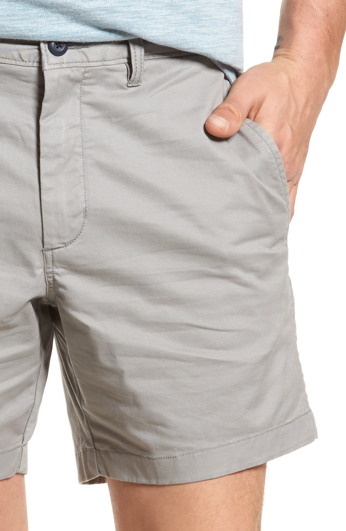 Ballard Slim Fit Stretch Chino 7-Inch Shorts,                             Alternate thumbnail 4, color,                             030