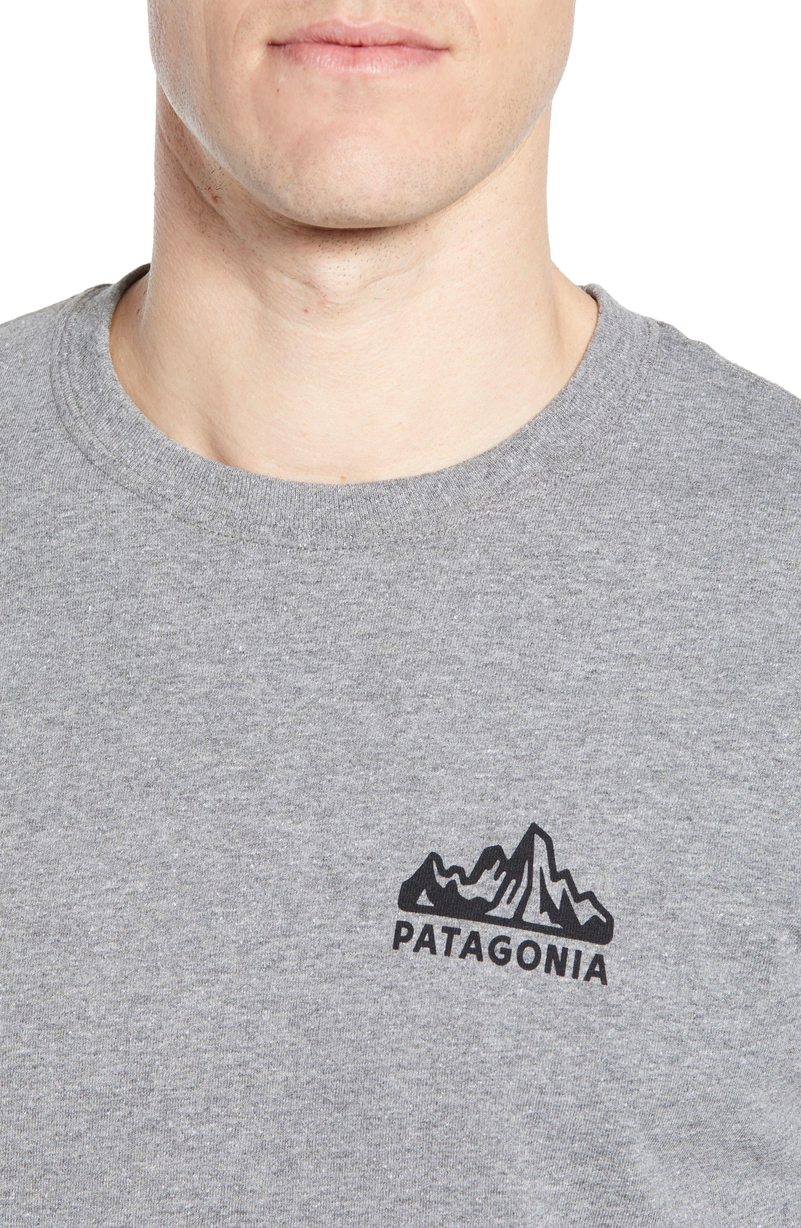Fitz Roy Scope Long Sleeve Responsibili-Tee T-Shirt,                             Alternate thumbnail 4, color,                             GRAVEL HEATHER