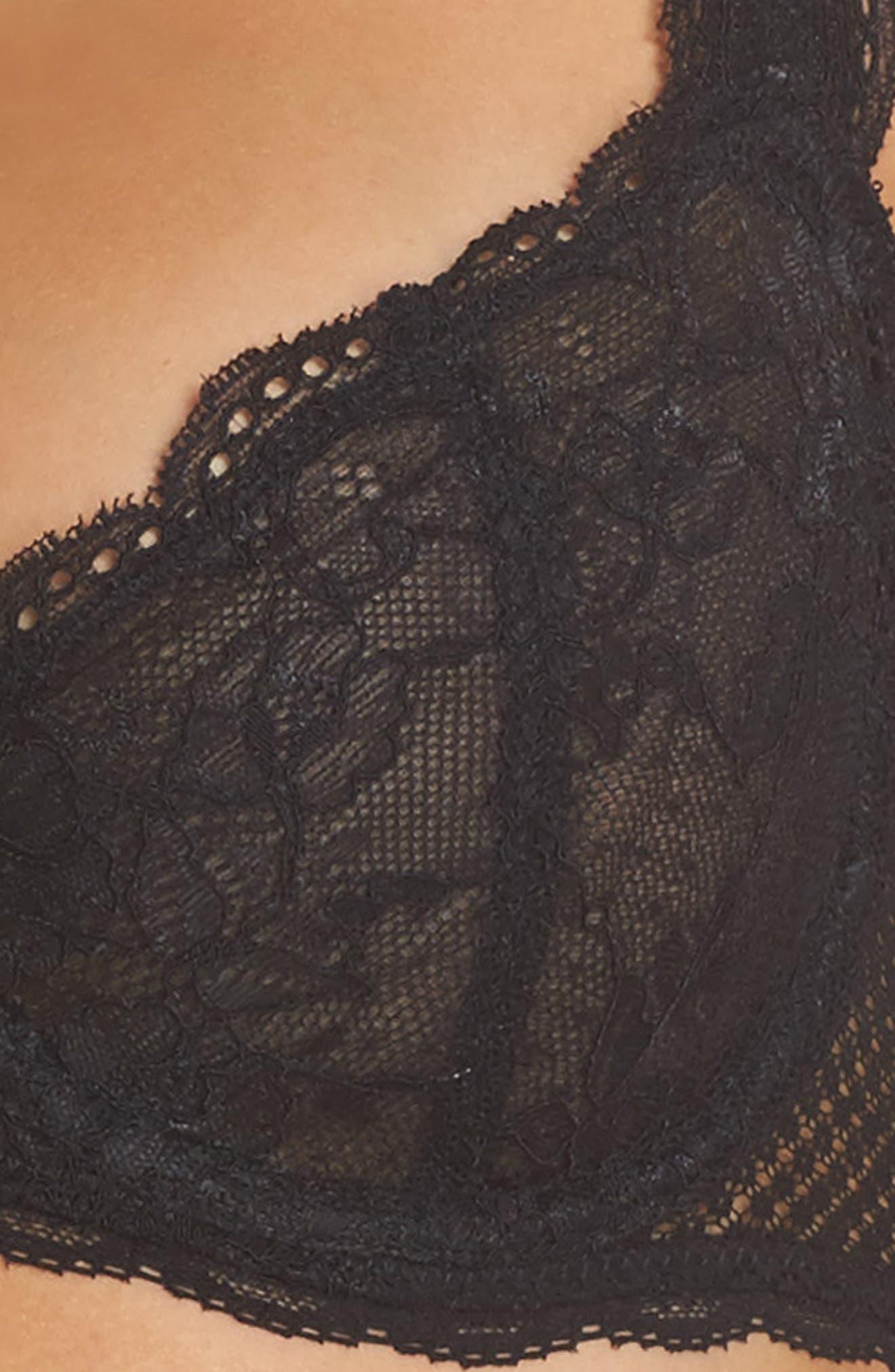 Unlined Underwire Demi Bra,                             Alternate thumbnail 4, color,                             001