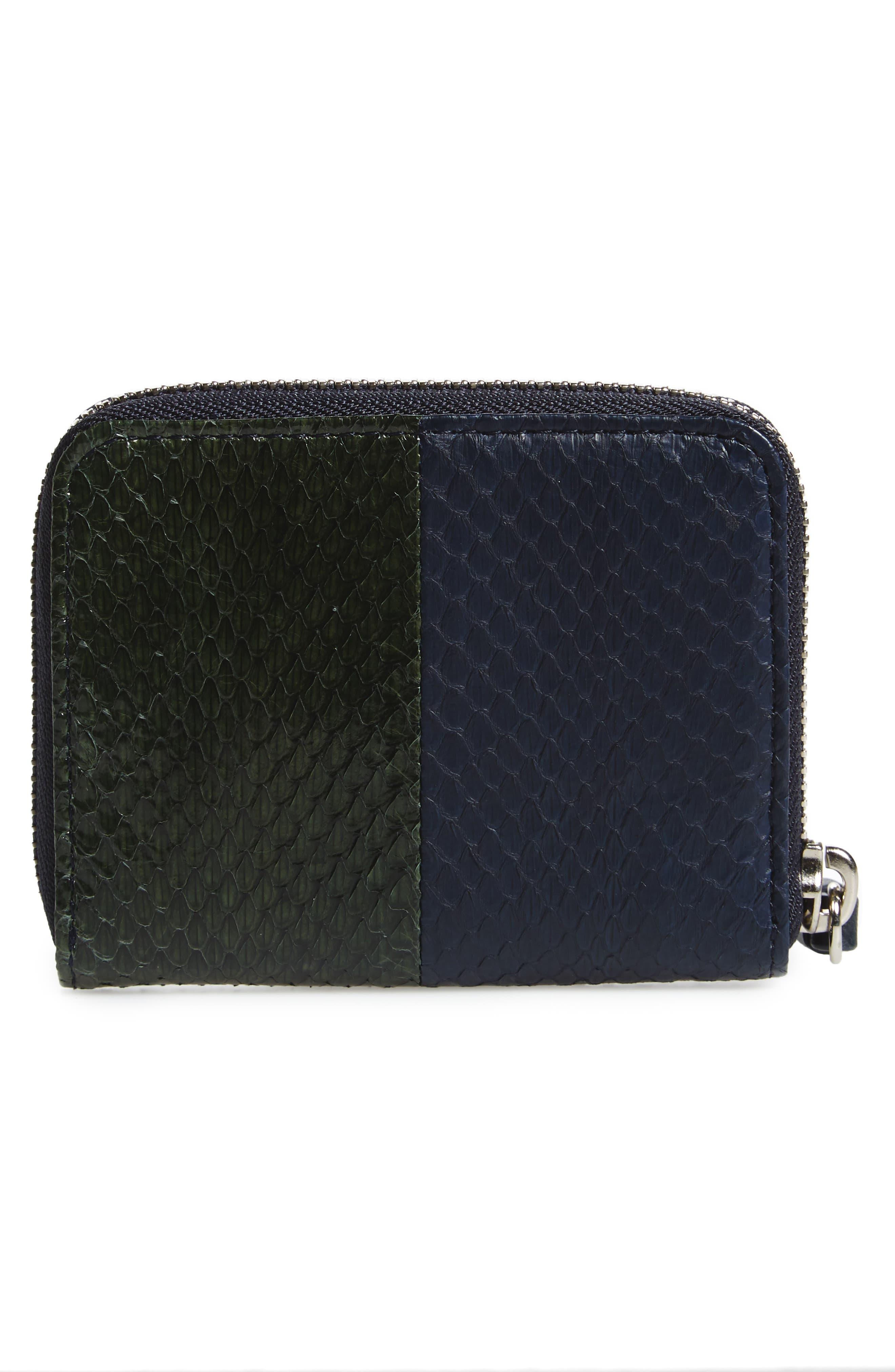 Ikuya Leather & Genuine Snakeskin Wallet,                             Alternate thumbnail 4, color,                             405