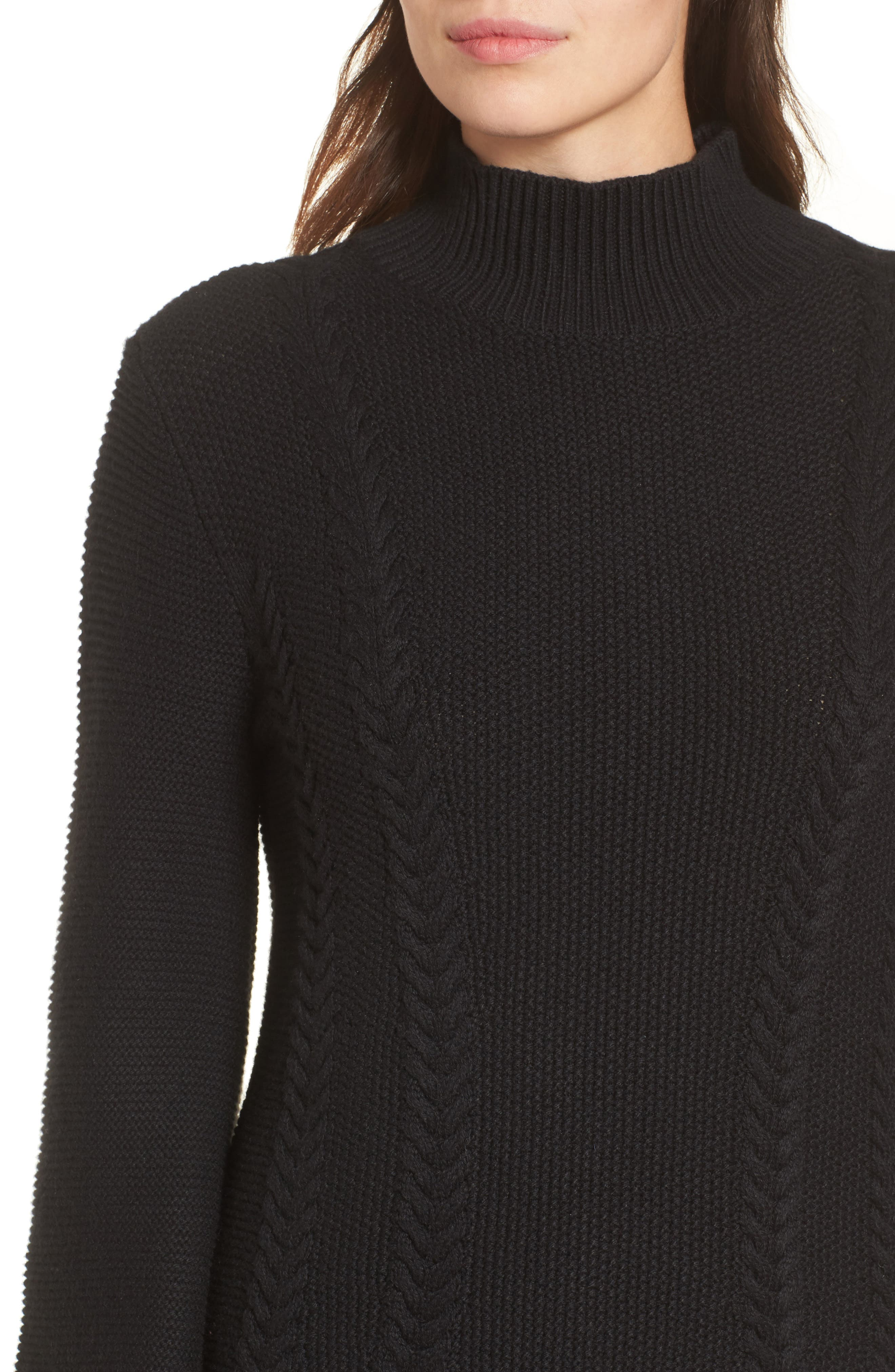 Cable Knit Sweater Dress,                             Alternate thumbnail 7, color,