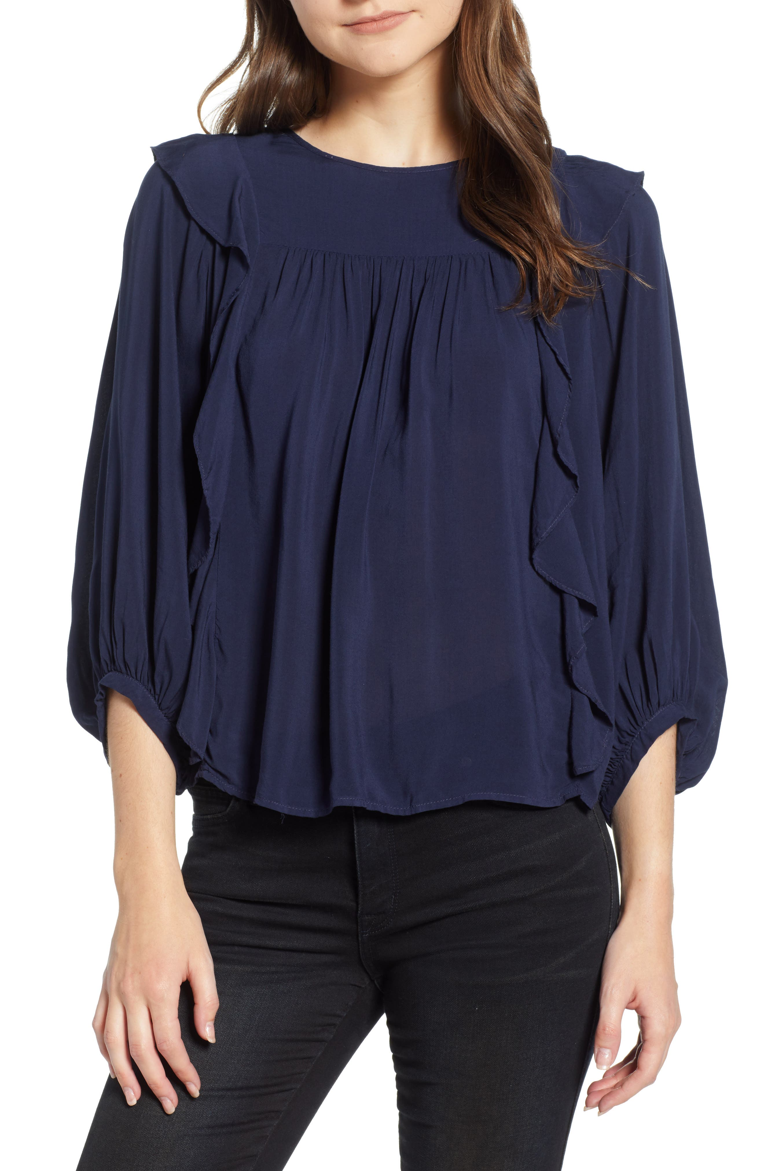 Ruffle Sides Blouse,                         Main,                         color, 494