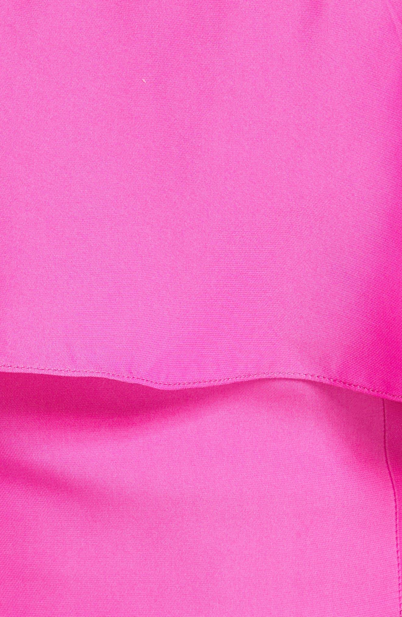 Audrey Ruffled Cold Shoulder Silk Top,                             Alternate thumbnail 5, color,                             670