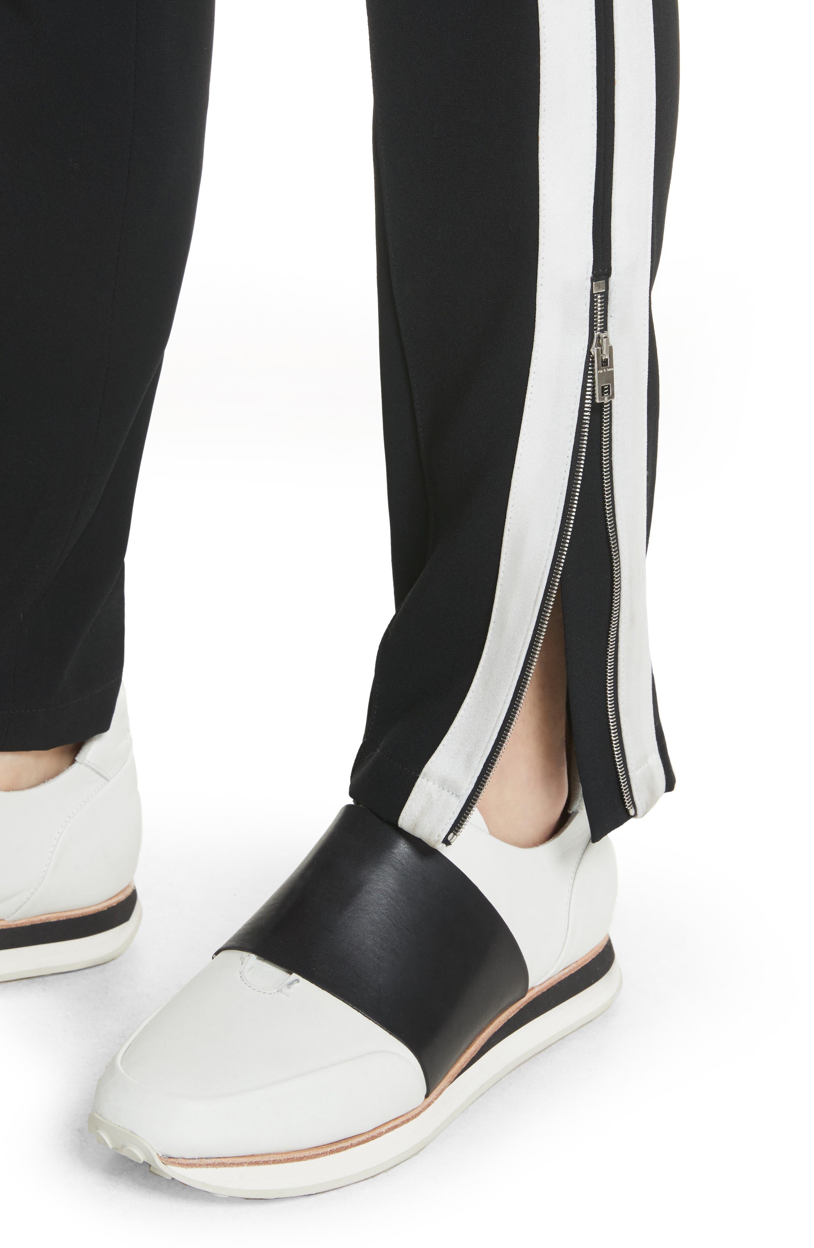 Milo Track Pants,                             Alternate thumbnail 4, color,                             BLACK/ WHITE
