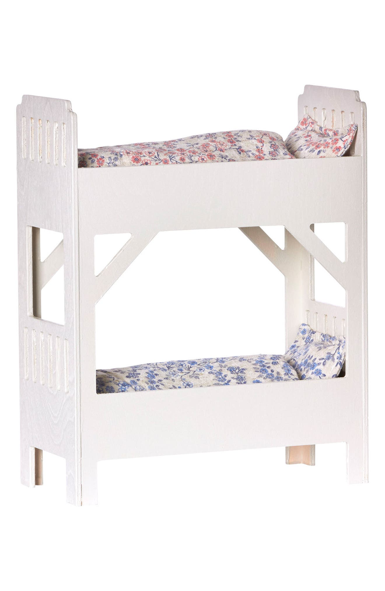 Small Wooden Doll Bunk Bed,                             Main thumbnail 1, color,                             WHITE