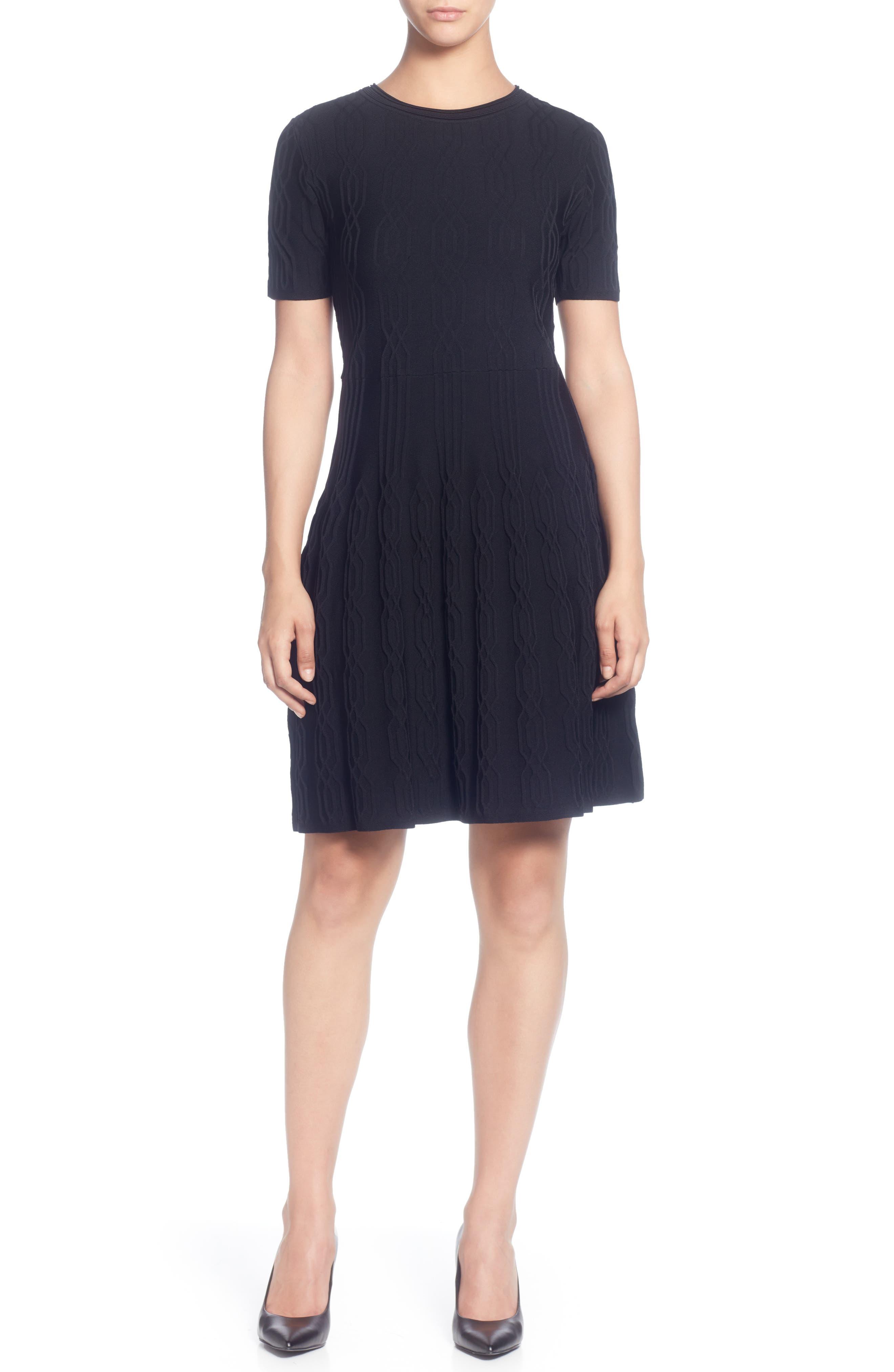 Catherine Catherine Malandrino Jacquard Sweater Dress, Black