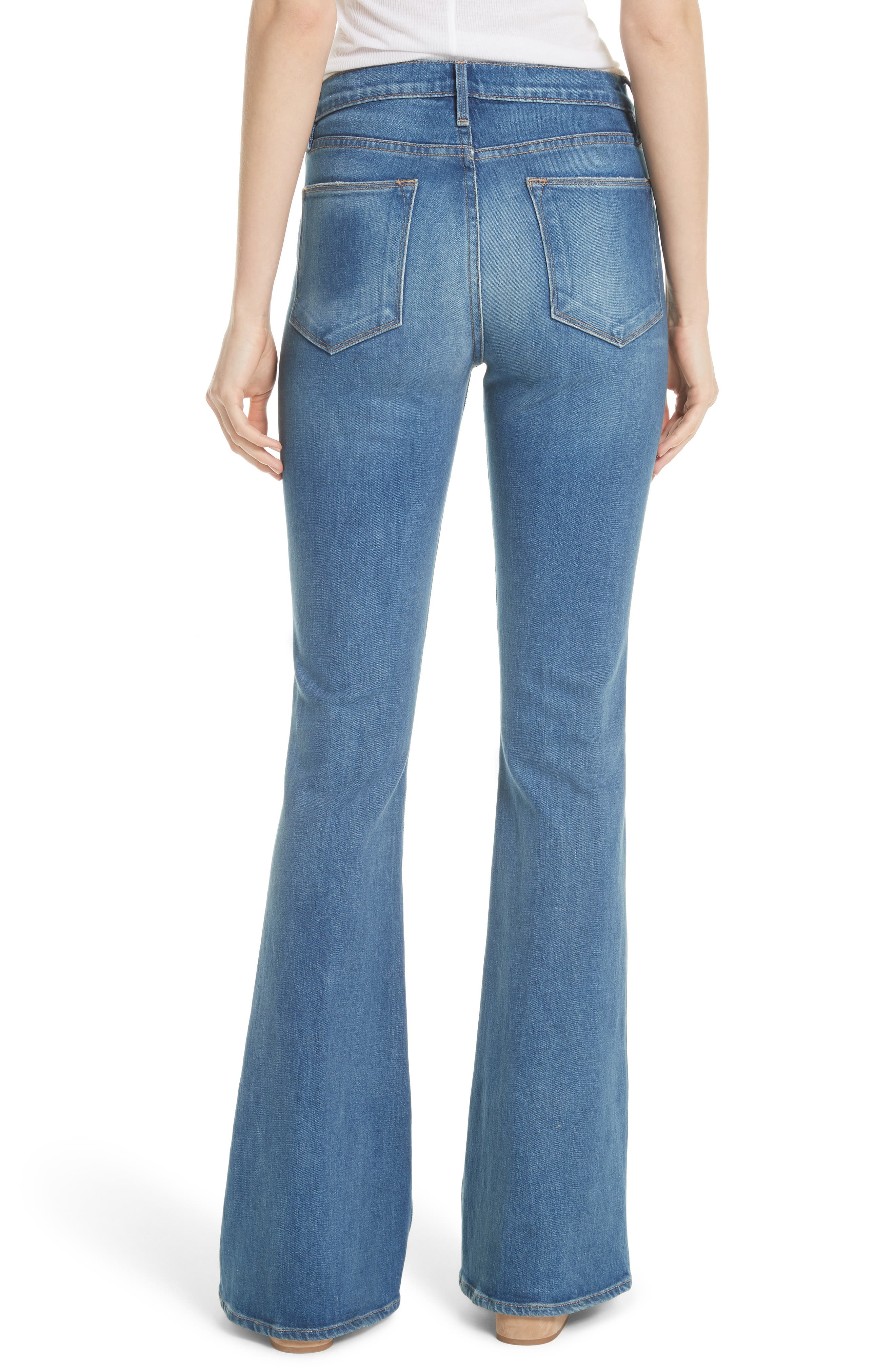 Le High Flare Jeans,                             Alternate thumbnail 2, color,                             CLAPPS