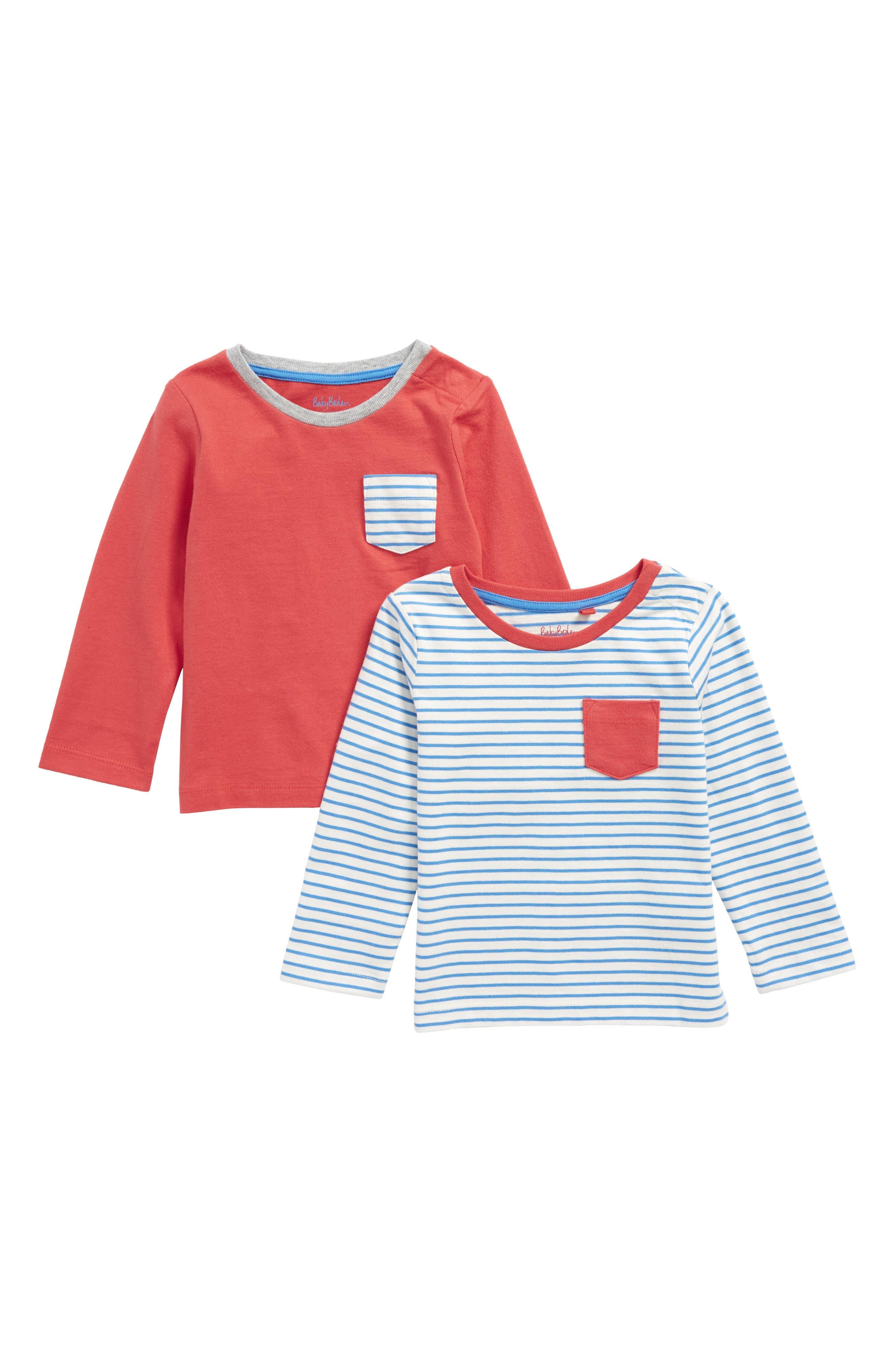 2-Pack Organic Cotton T-Shirts,                             Main thumbnail 1, color,                             424