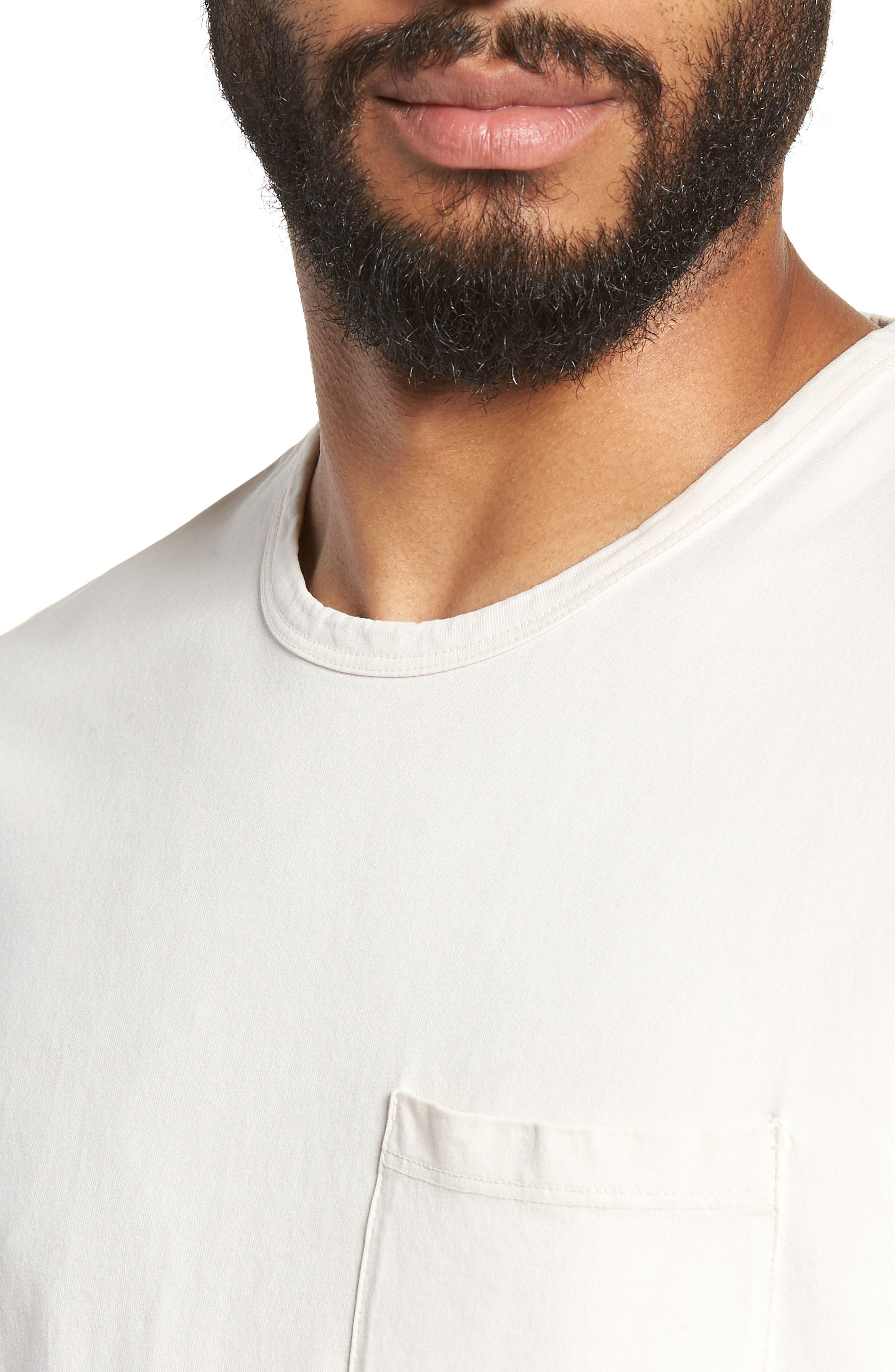 Regular Fit Garment Dye Pocket T-Shirt,                             Alternate thumbnail 4, color,                             SAIL