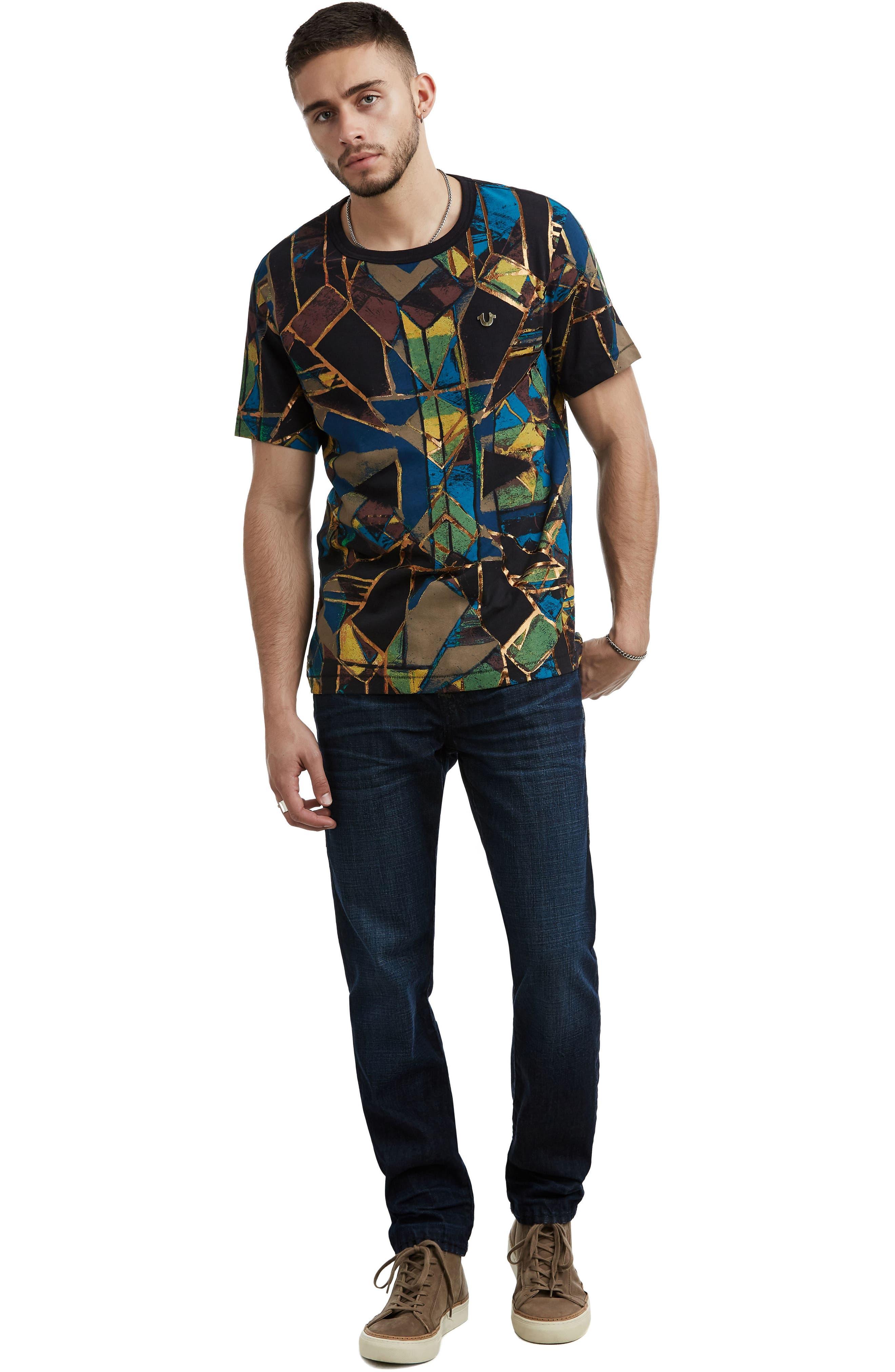 Limelight Graphic T-Shirt,                             Alternate thumbnail 3, color,                             BLACK MULTI