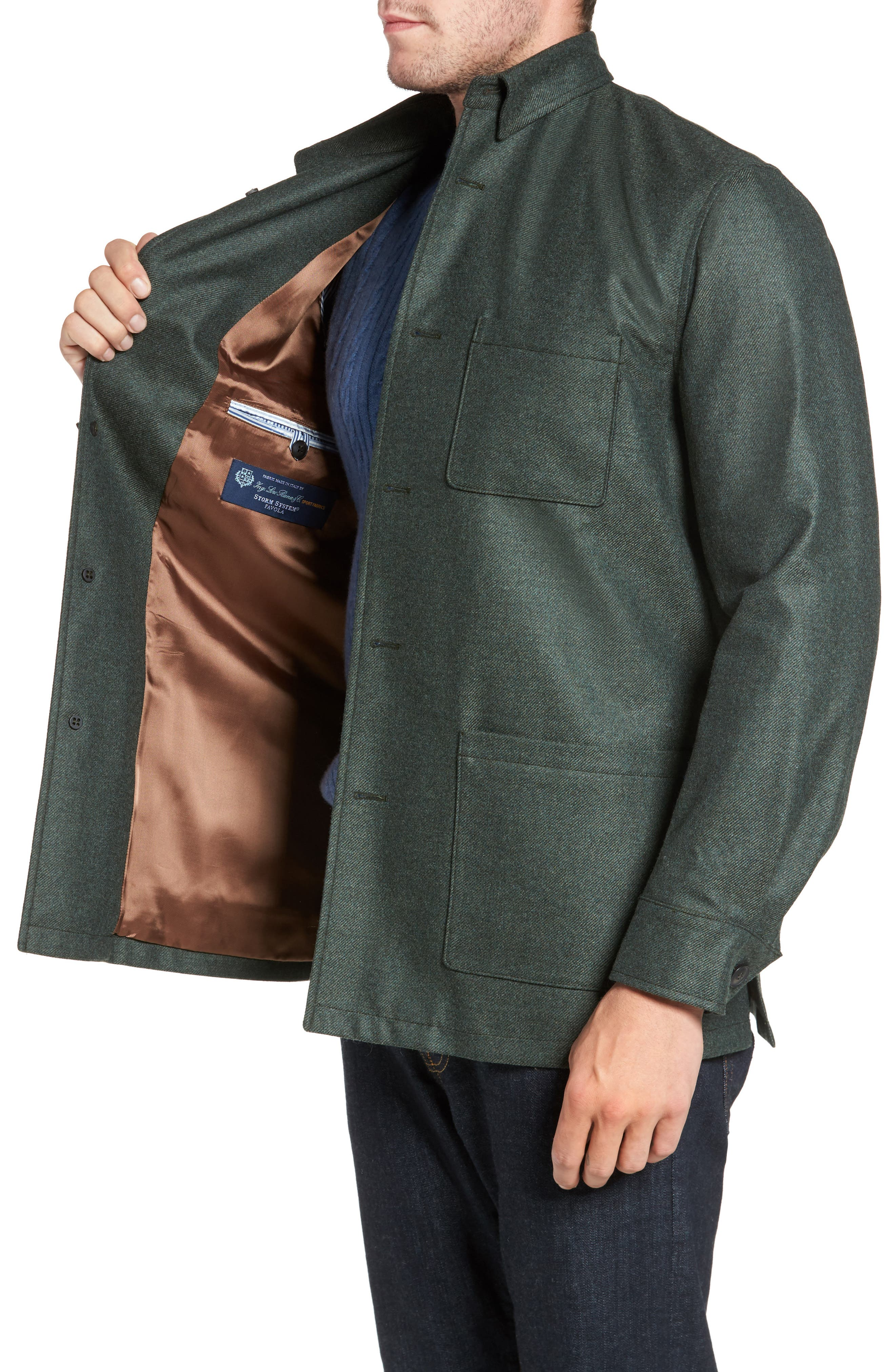 Loro Piana Storm System Shirt Jacket,                             Alternate thumbnail 13, color,