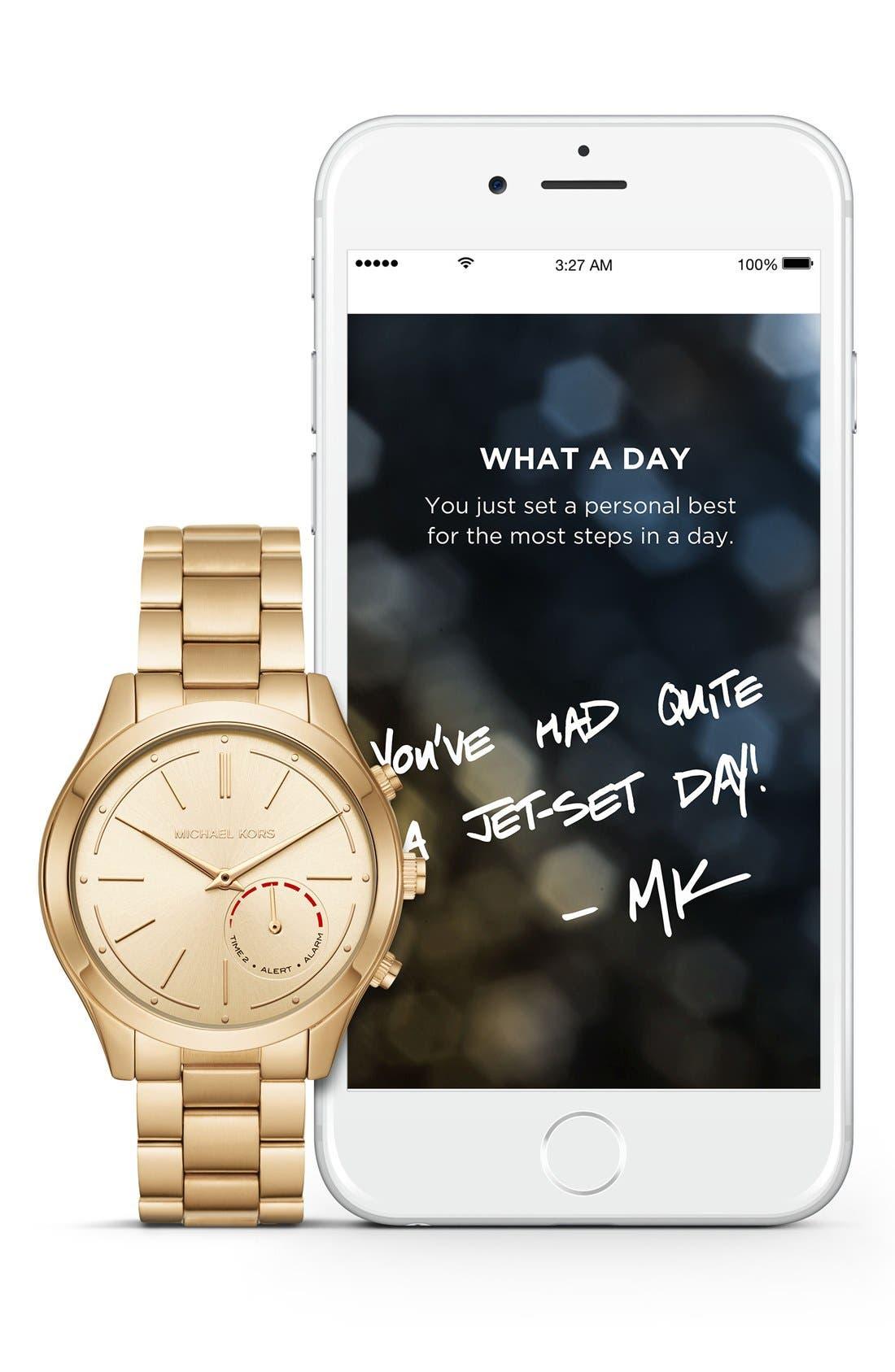 MICHAEL Michael Kors Slim Runway Smart Watch, 42mm,                             Alternate thumbnail 5, color,                             GOLD