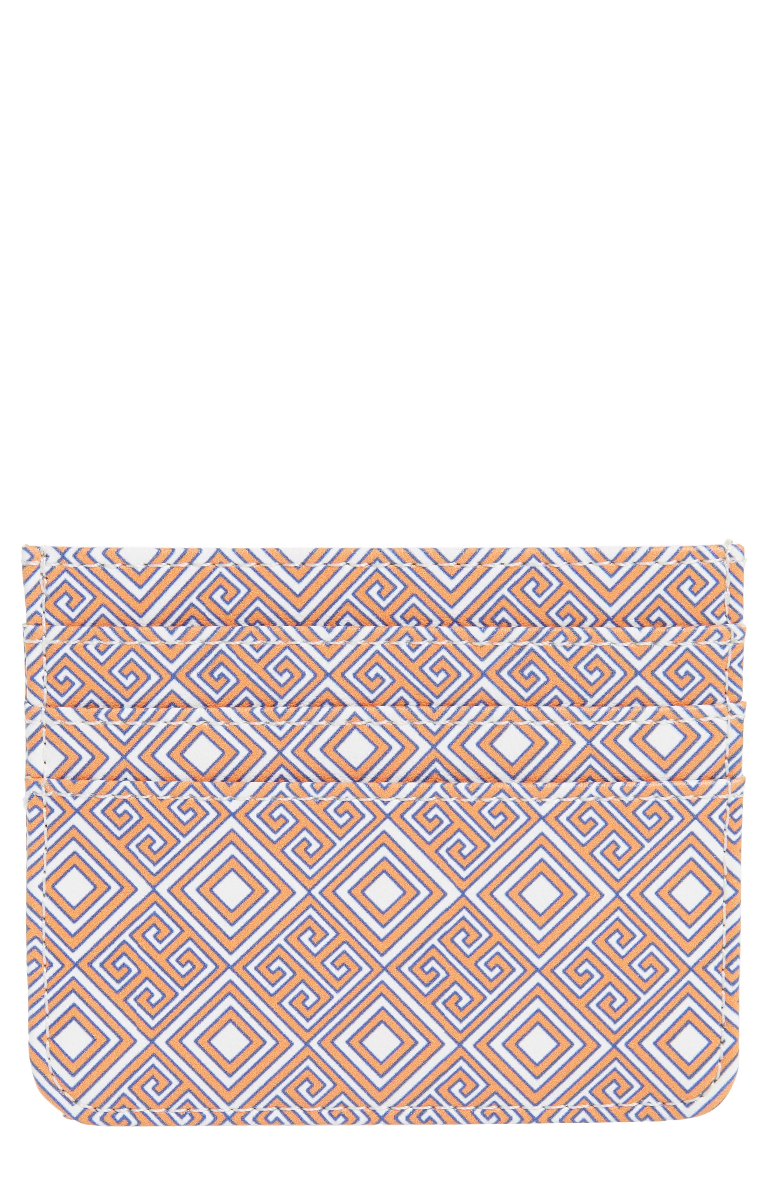 Faux Leather Card Case,                             Main thumbnail 1, color,                             800