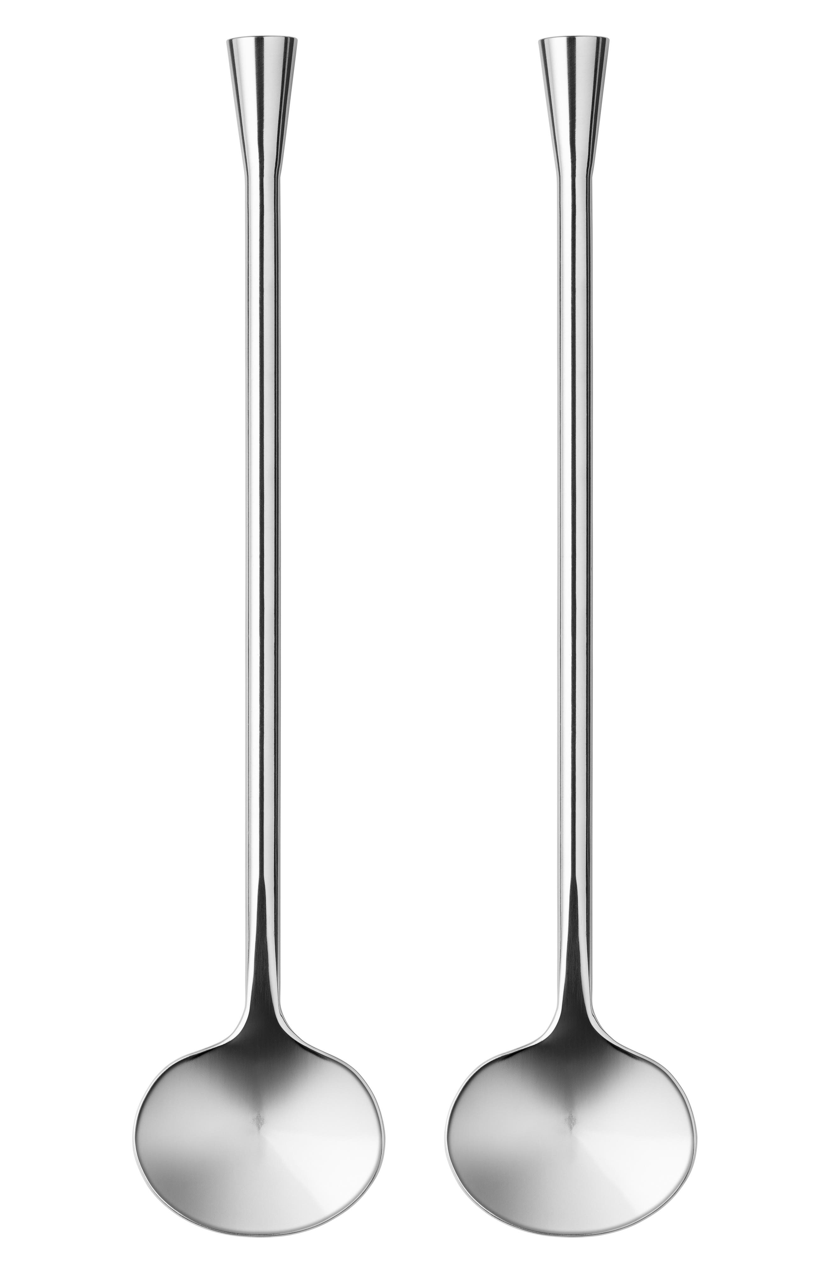 City Set of 2 Cocktail Spoons,                             Main thumbnail 1, color,                             SILVER