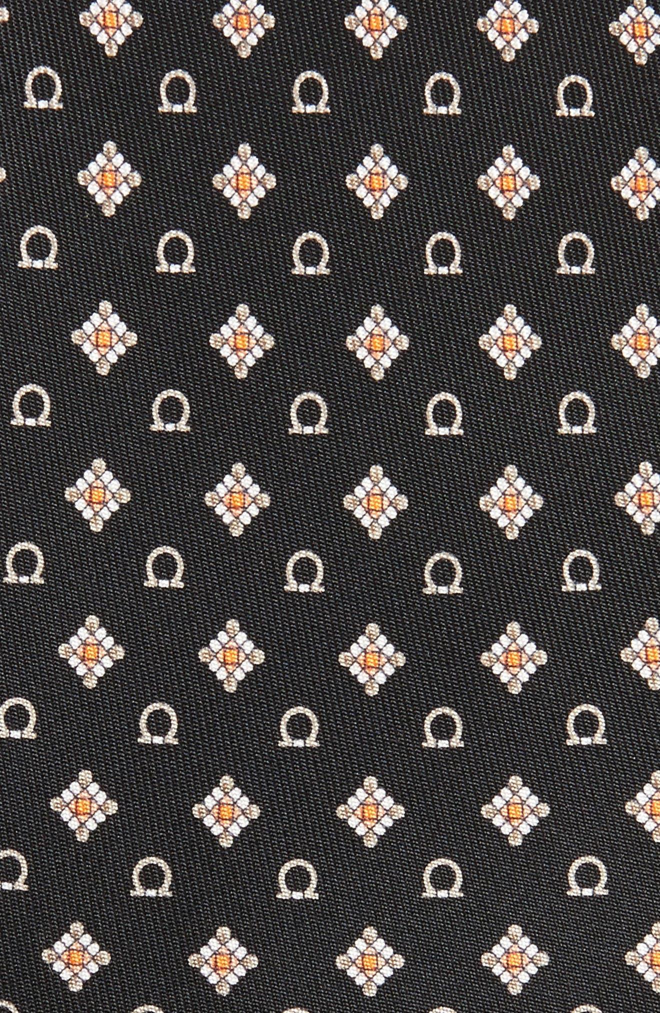 SALVATORE FERRAGAMO,                             Edison Medallion Silk Tie,                             Alternate thumbnail 2, color,                             001