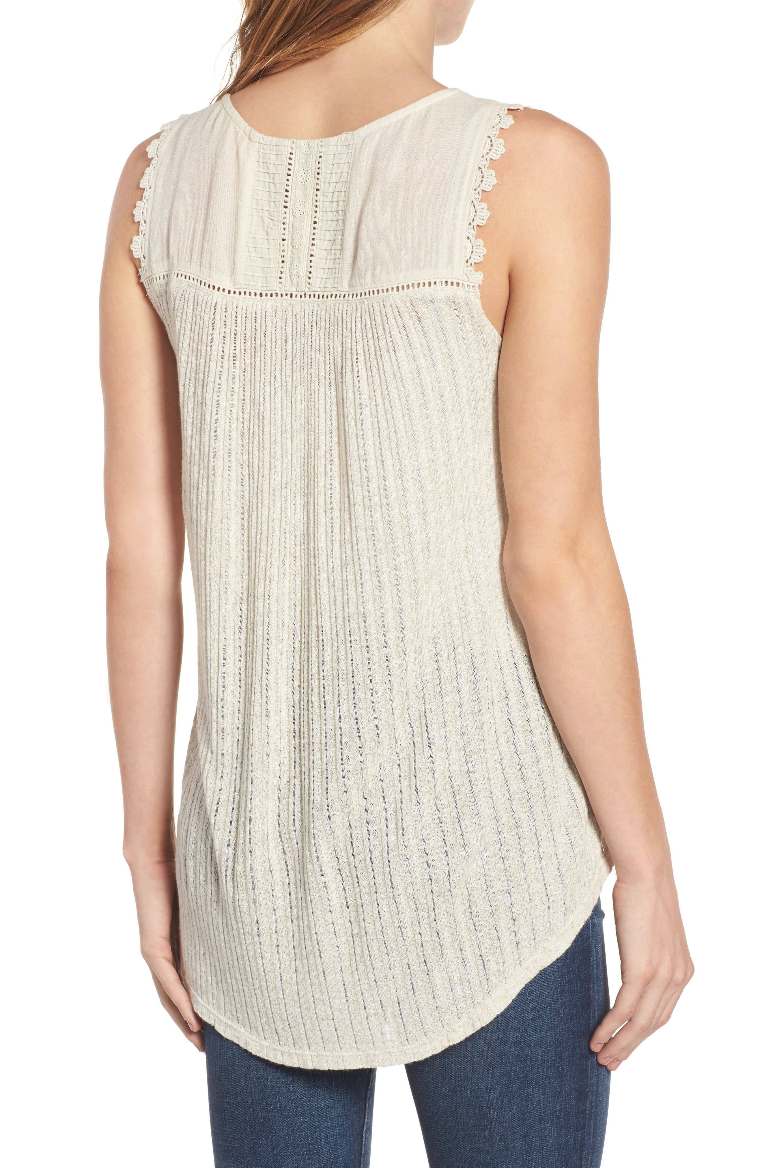 Embroidered Bib Tank,                             Alternate thumbnail 2, color,                             100