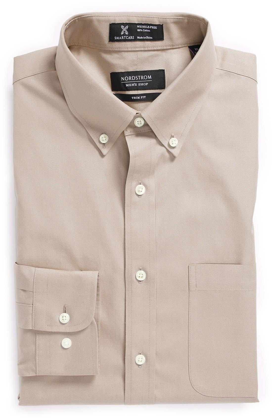 Smartcare<sup>™</sup> Trim Fit Solid Dress Shirt,                             Main thumbnail 6, color,