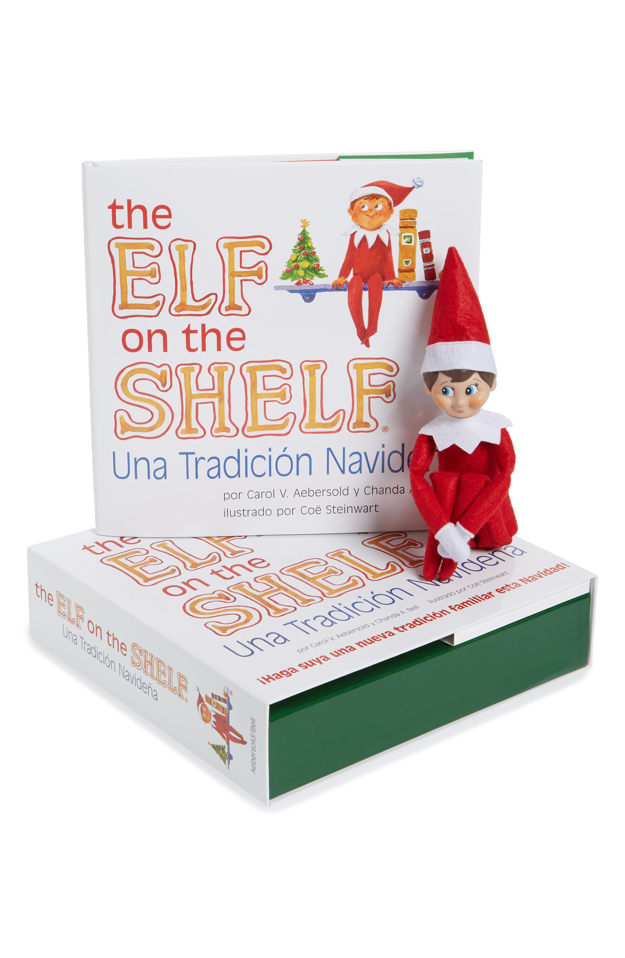 Carol Aebersold and Chanda Bell 'The Elf on the Shelf<sup>®</sup>: A Christmas Tradition<sup>™</sup>' Book & Elf,                         Main,                         color, SPANISH VERSION - BOY