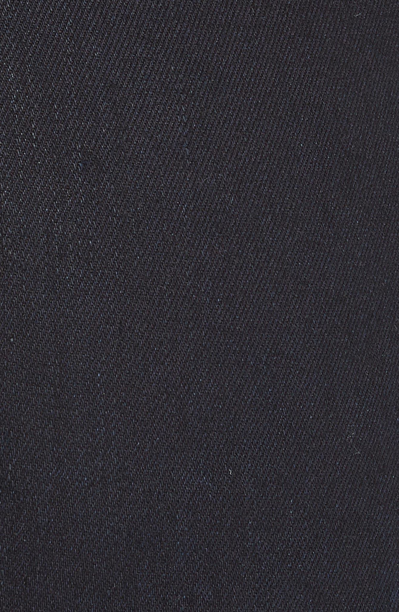 Dalida Button Detail Skinny Flare Jeans,                             Alternate thumbnail 5, color,                             INDIGO