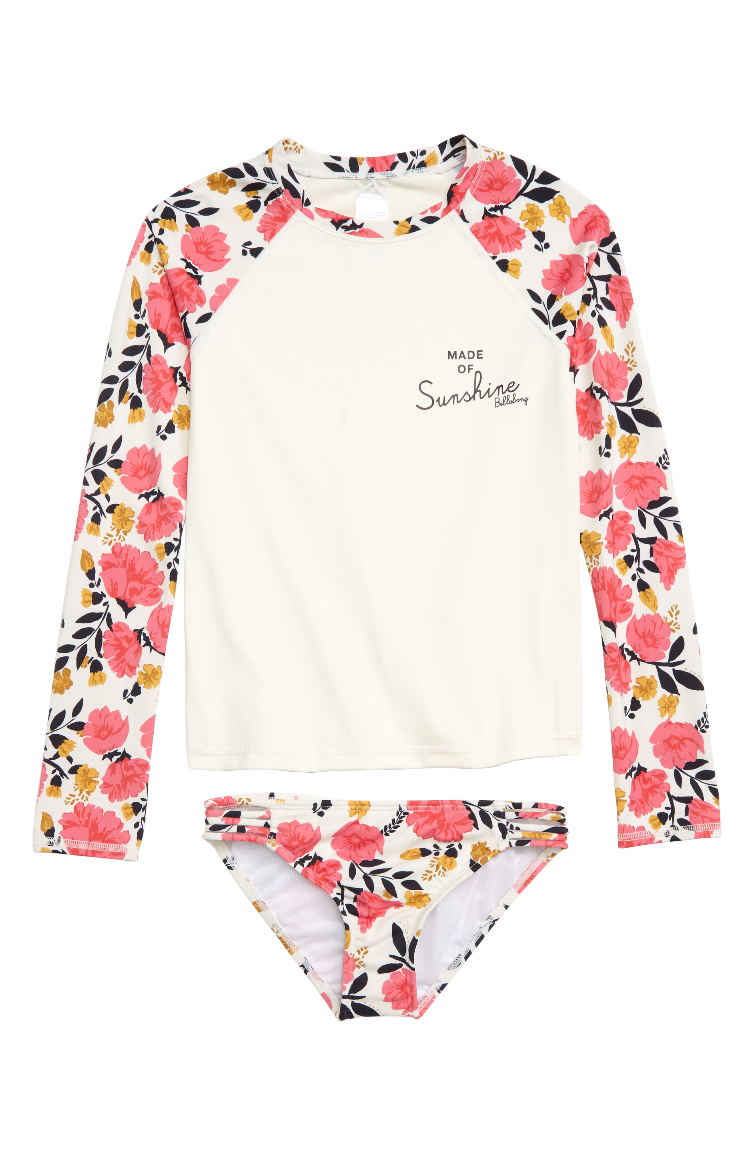 Sun Dream Long Sleeve Rashguard Swimsuit, Main, color, MULTI