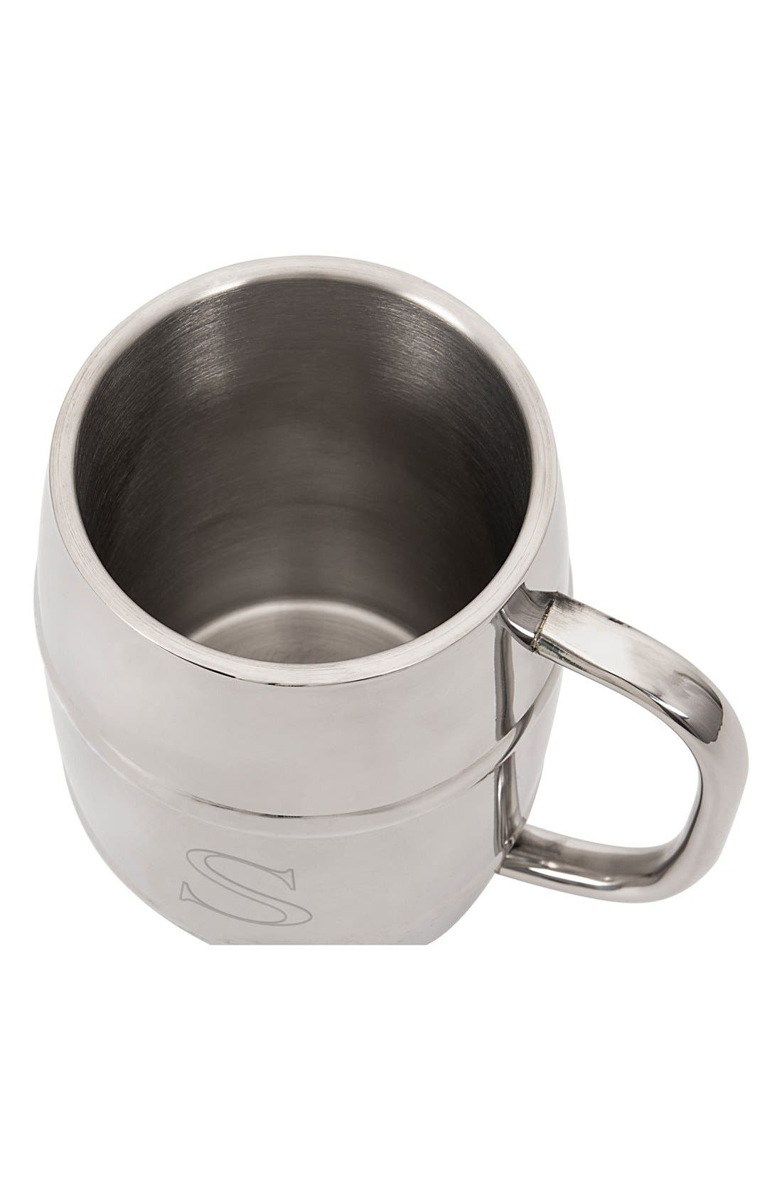 'XL Beer Keg' Monogram Mug,                             Alternate thumbnail 3, color,                             041