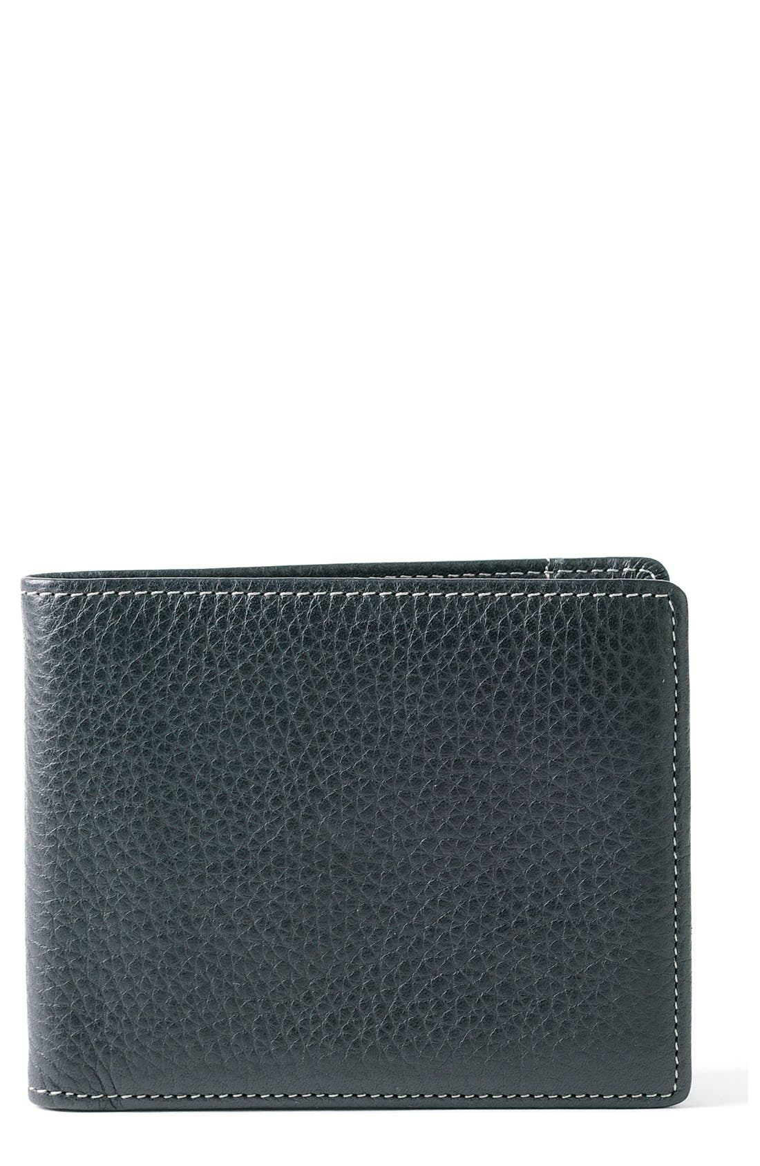 'Tyler' RFID Wallet,                             Main thumbnail 1, color,                             BLACK