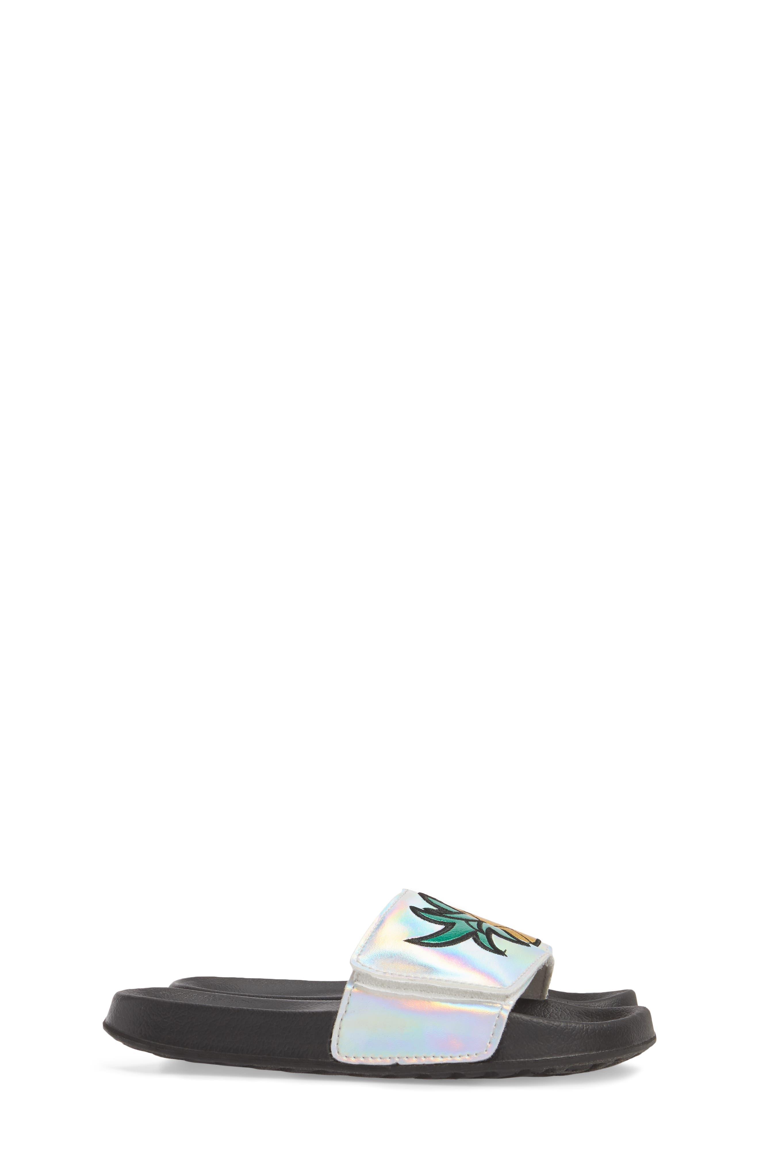 Mackie Pineapple Metallic Slide Sandal,                             Alternate thumbnail 4, color,                             040