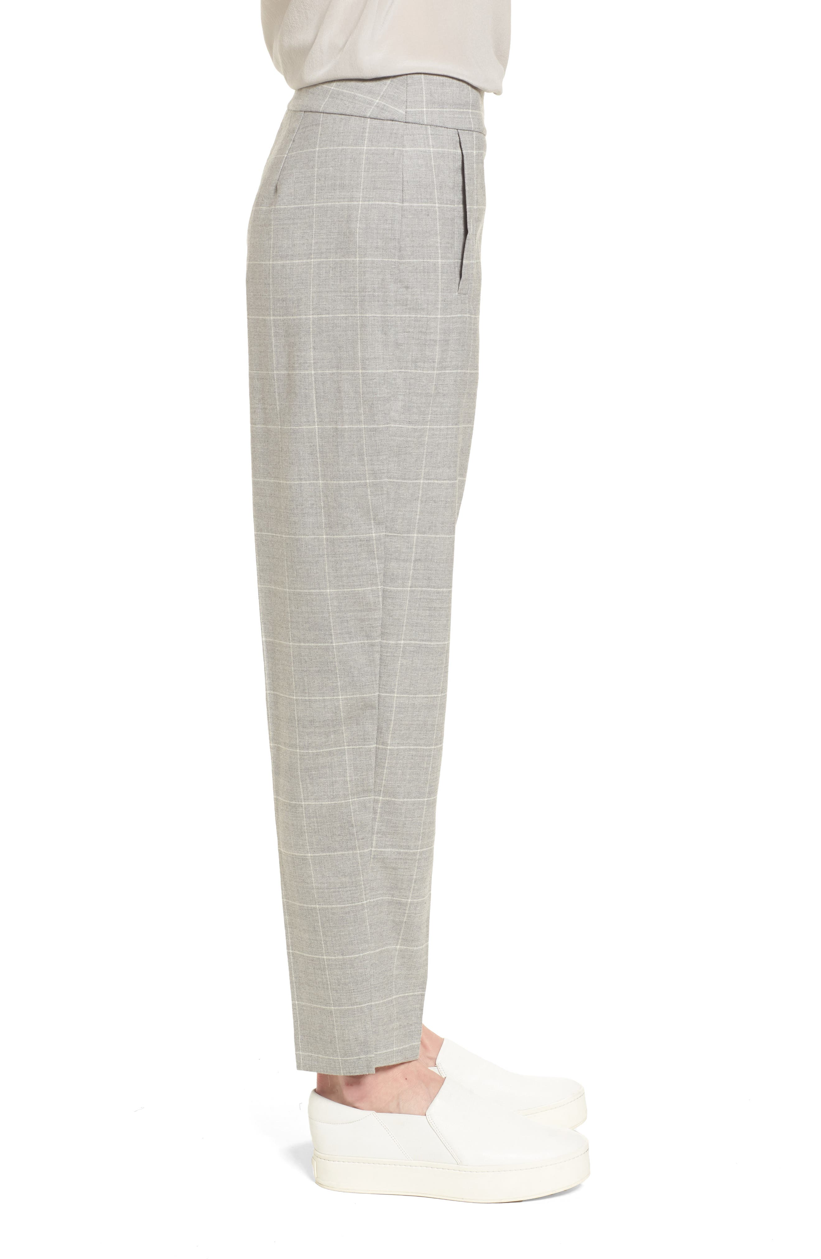 Tapered Stretch Wool Ankle Pants,                             Alternate thumbnail 3, color,                             022