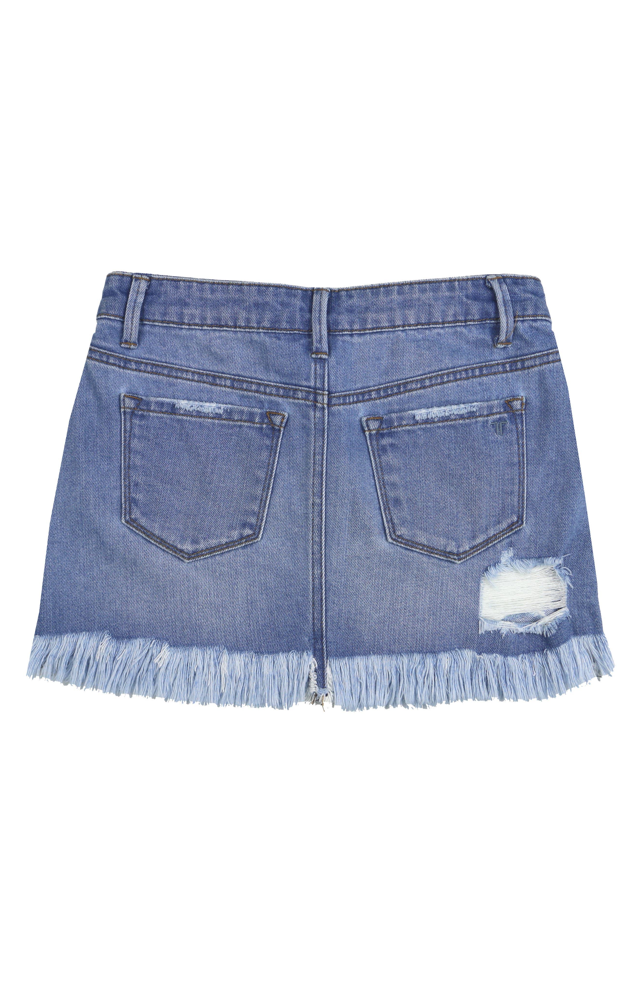 Distressed Denim Skirt,                             Alternate thumbnail 2, color,                             409