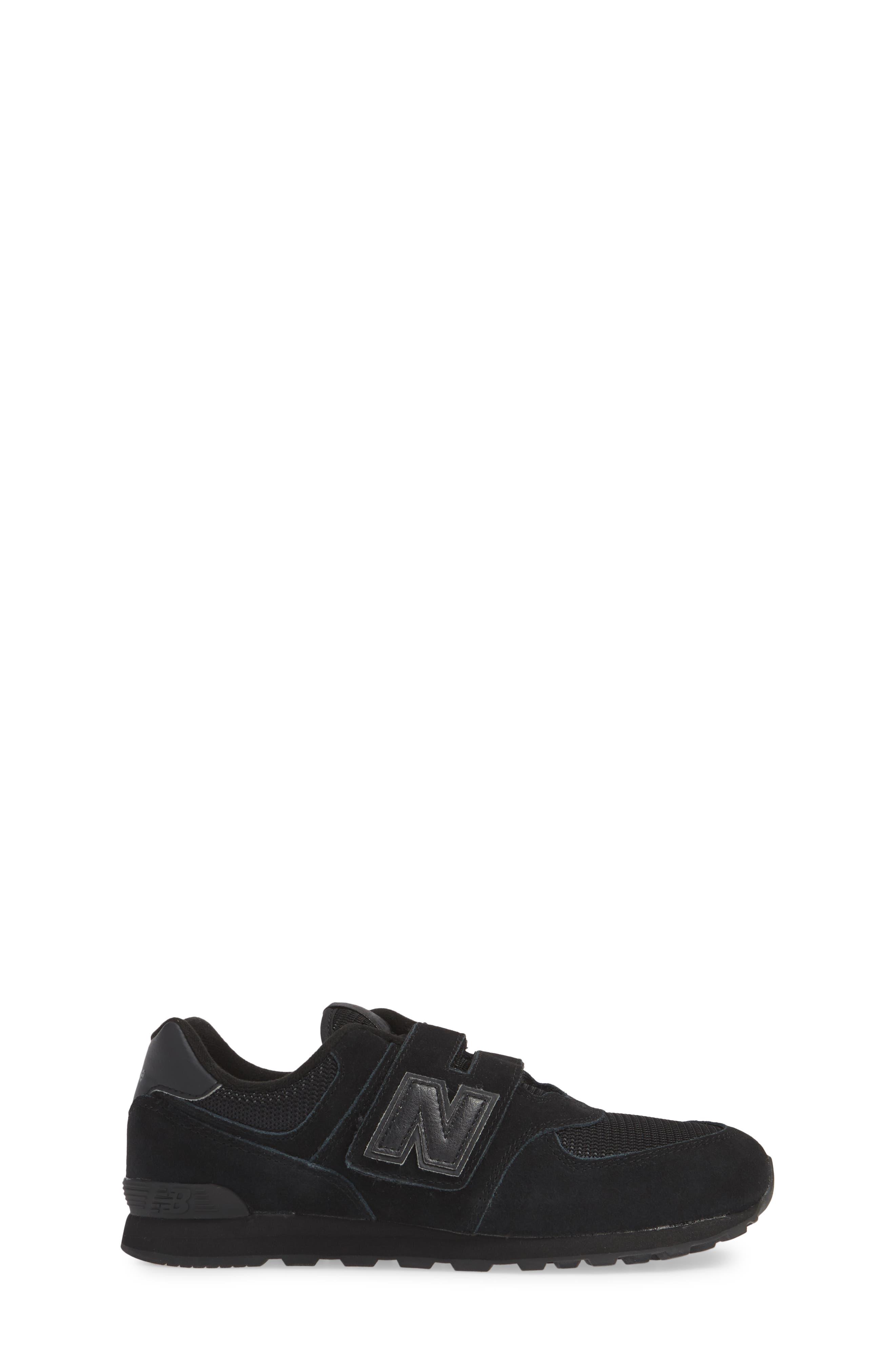 NEW BALANCE,                             574 Retro Surf Sneaker,                             Alternate thumbnail 3, color,                             BLACK/ BLACK