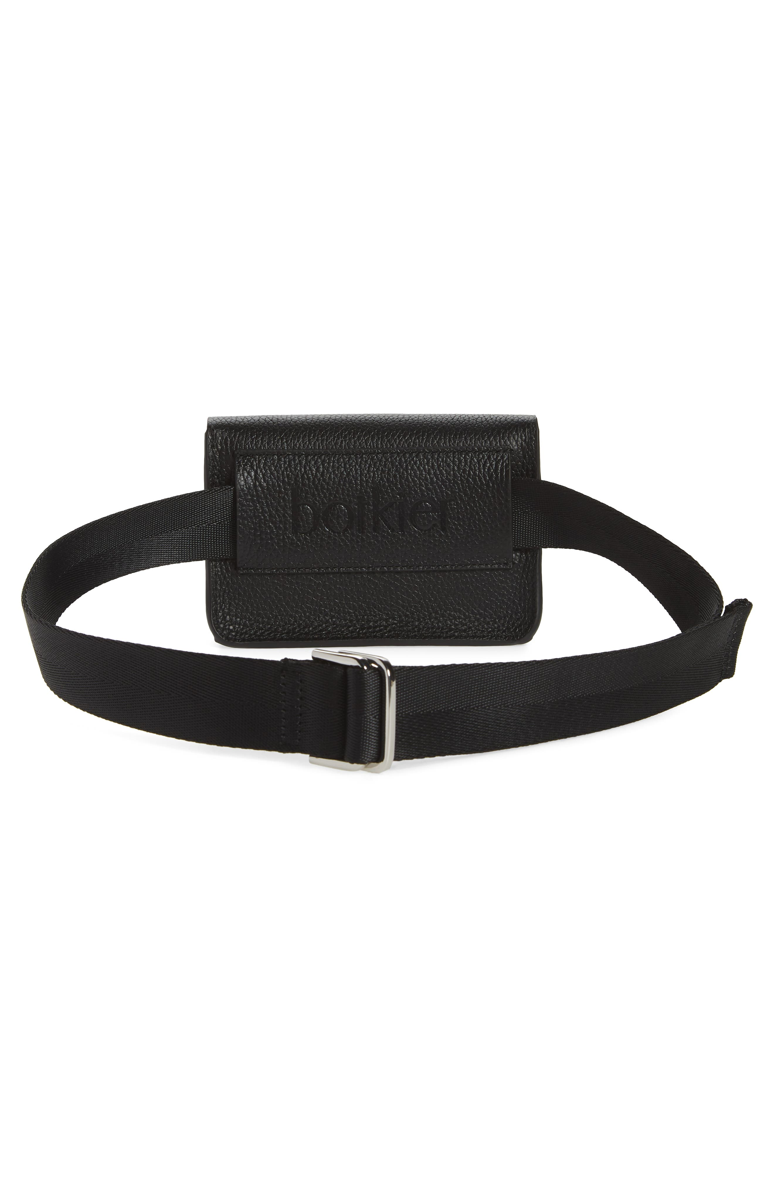 Vivi Calfskin Leather Convertible Belt Bag,                             Alternate thumbnail 5, color,                             BLACK