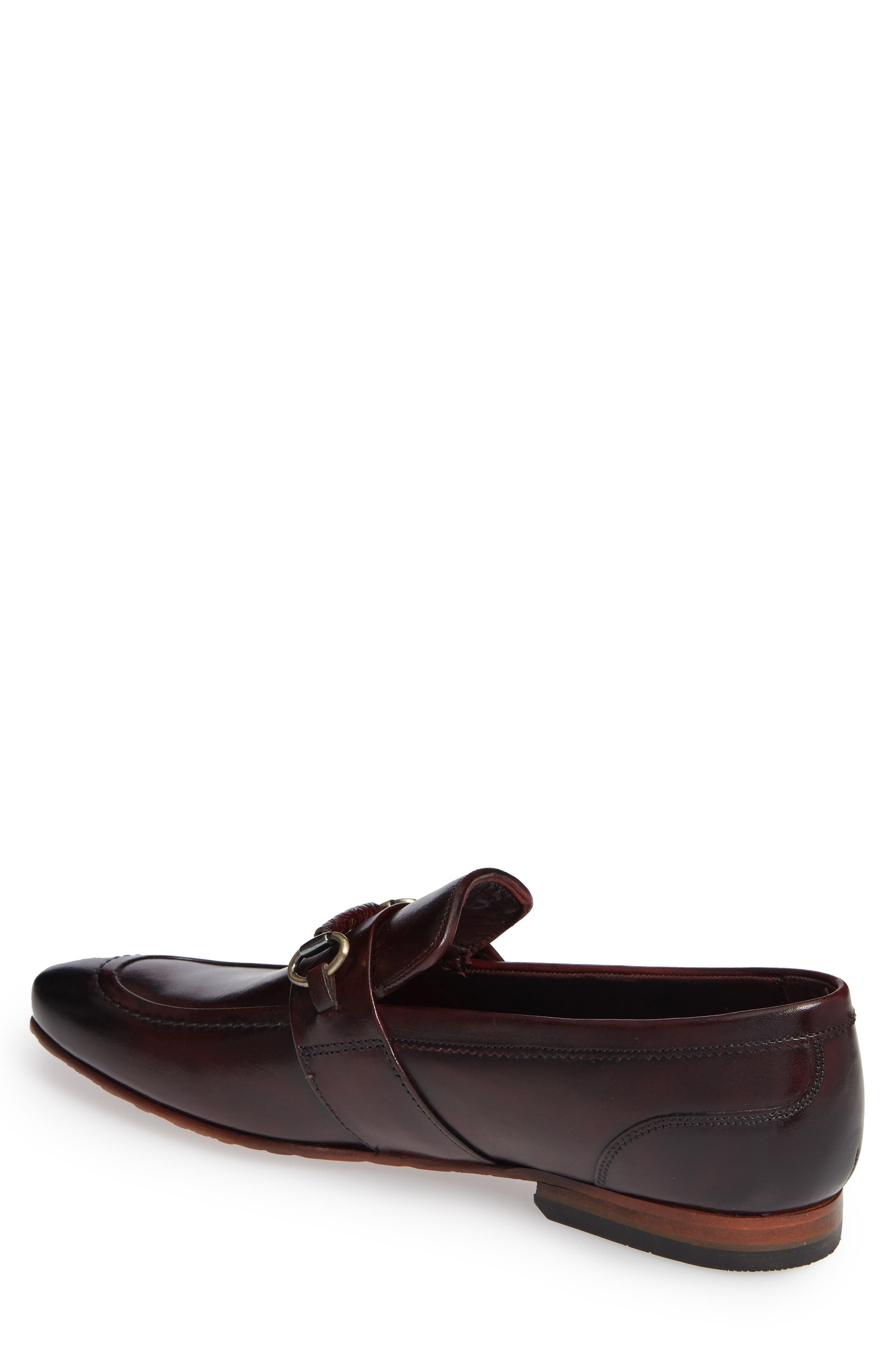 Daiser Bit Loafer,                             Alternate thumbnail 2, color,                             DARK RED LEATHER