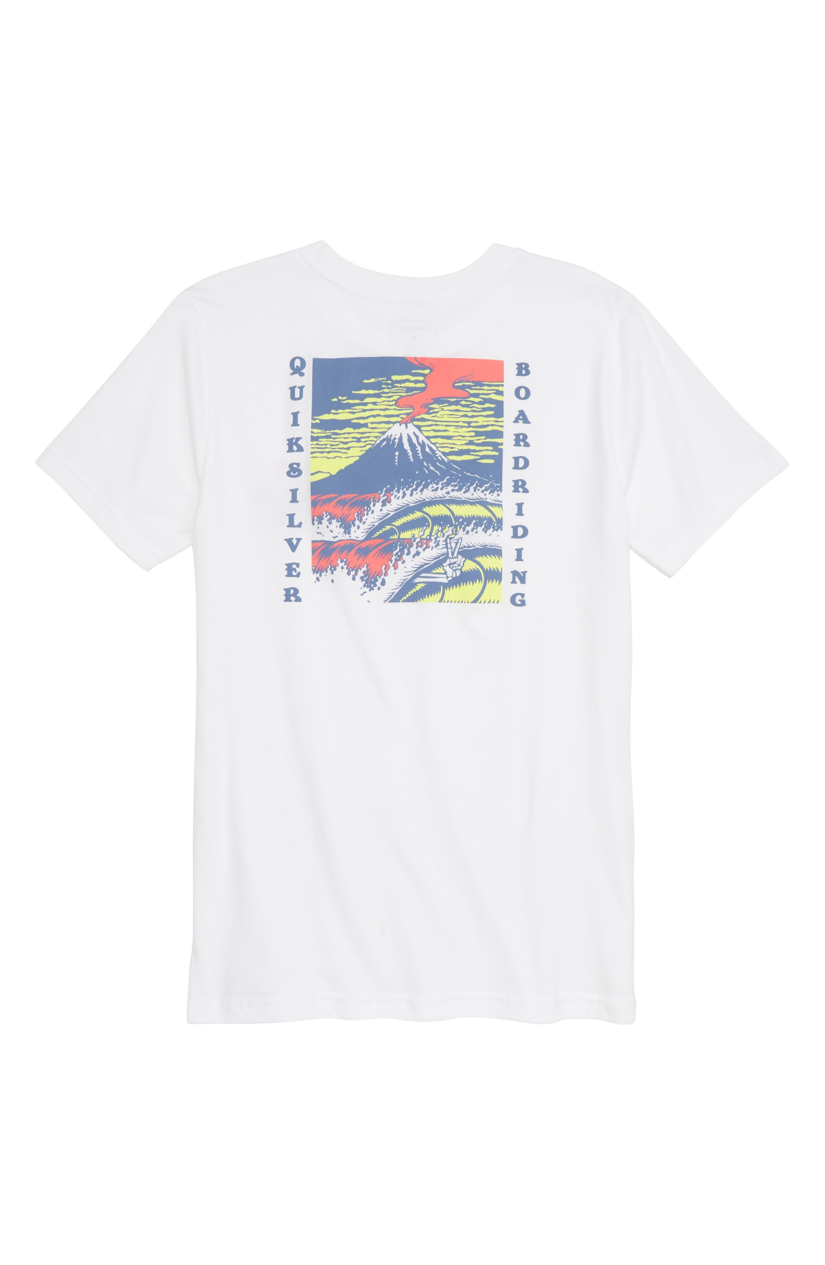 Tropical Eruption Graphic T-Shirt,                             Alternate thumbnail 2, color,                             WHITE