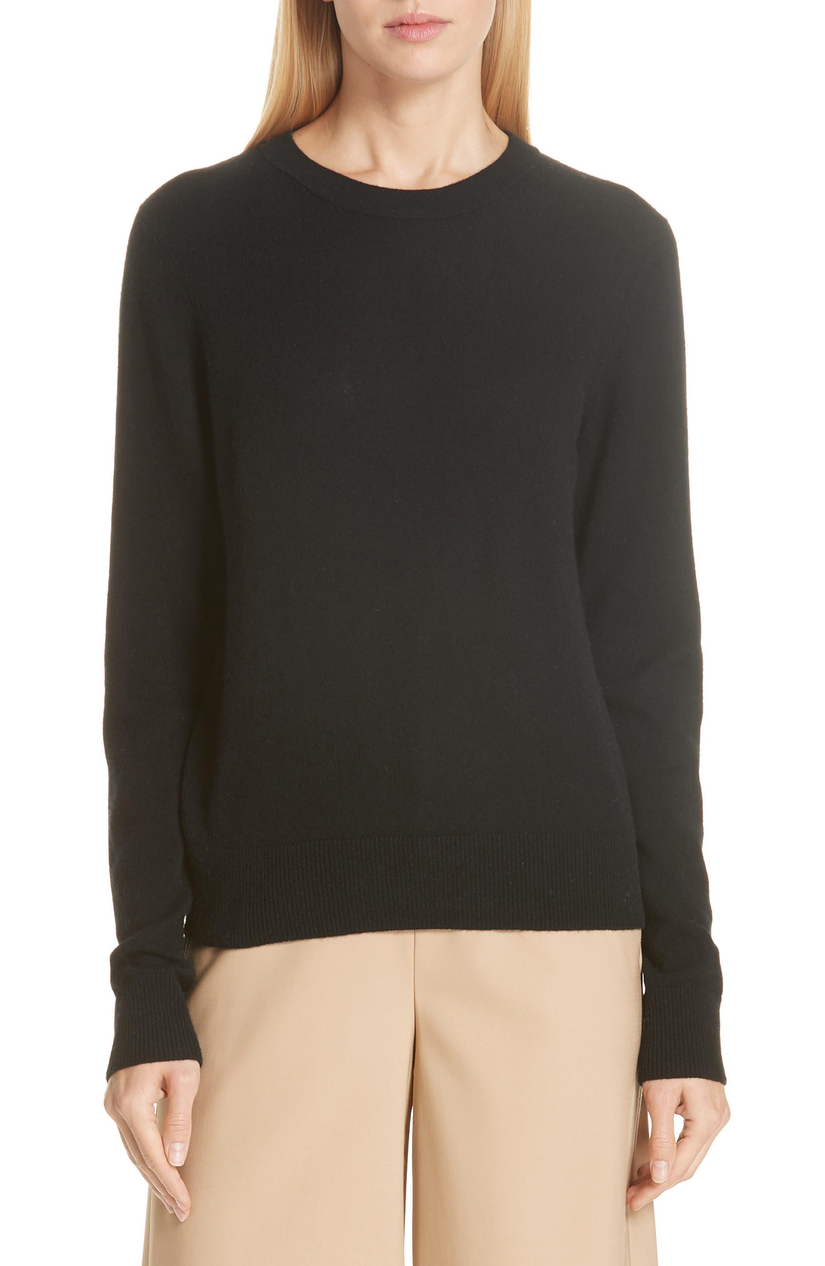 Cashmere Sweater,                             Main thumbnail 1, color,                             BLACK