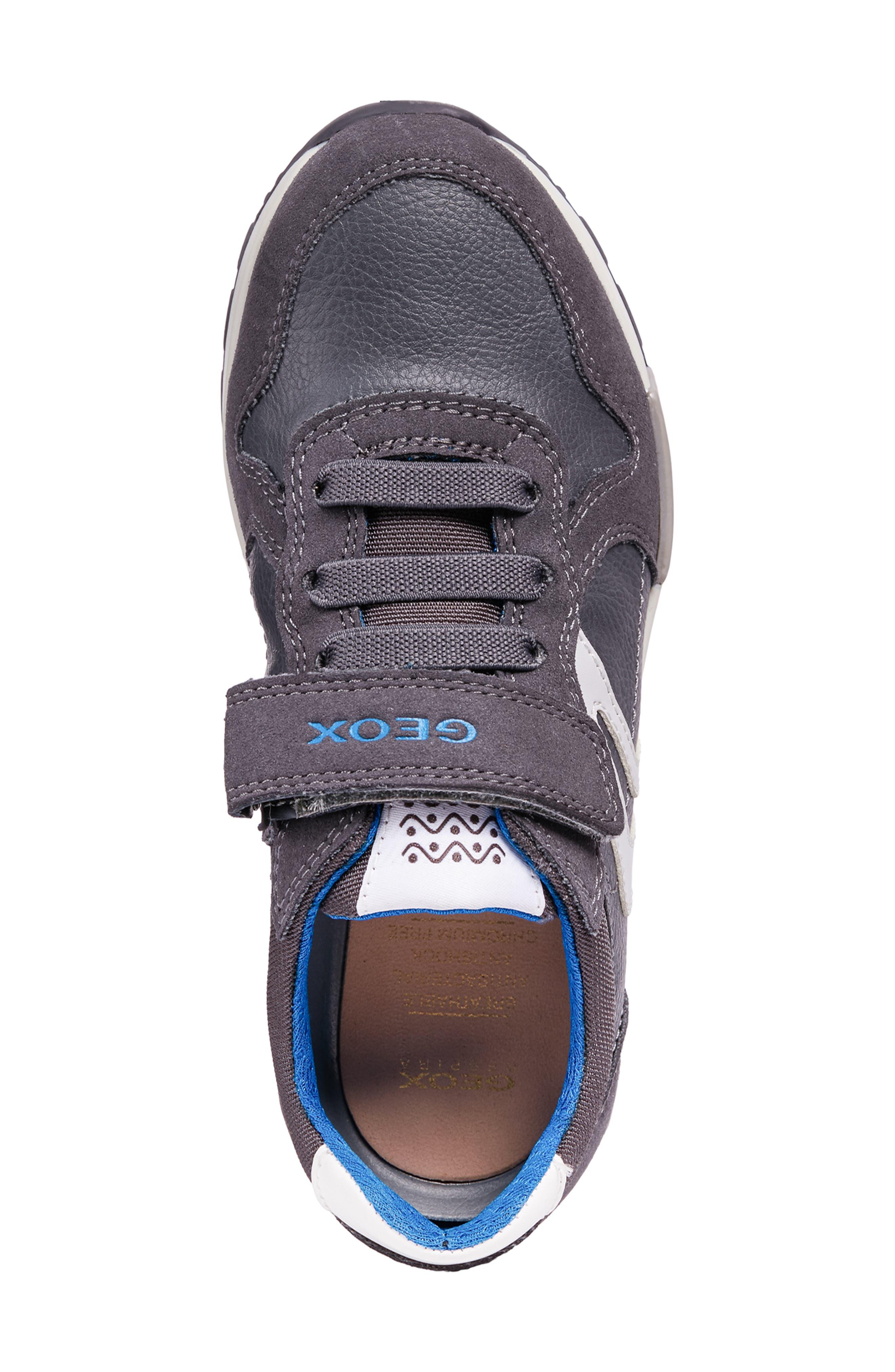 Alfier Boy Sneaker,                             Alternate thumbnail 4, color,                             DARK GREY/GREY