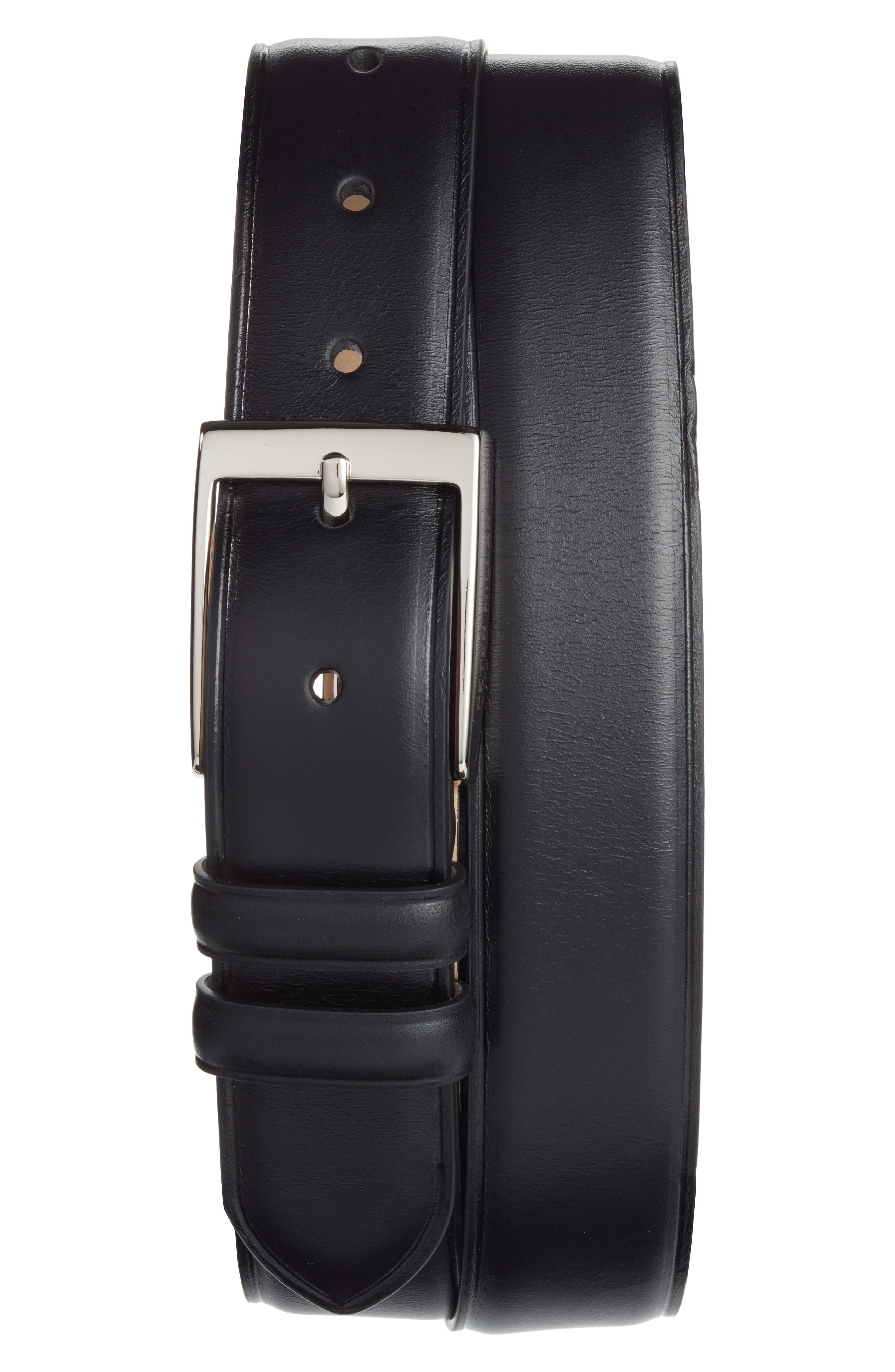 Classic Leather Dress Belt,                             Main thumbnail 1, color,                             001