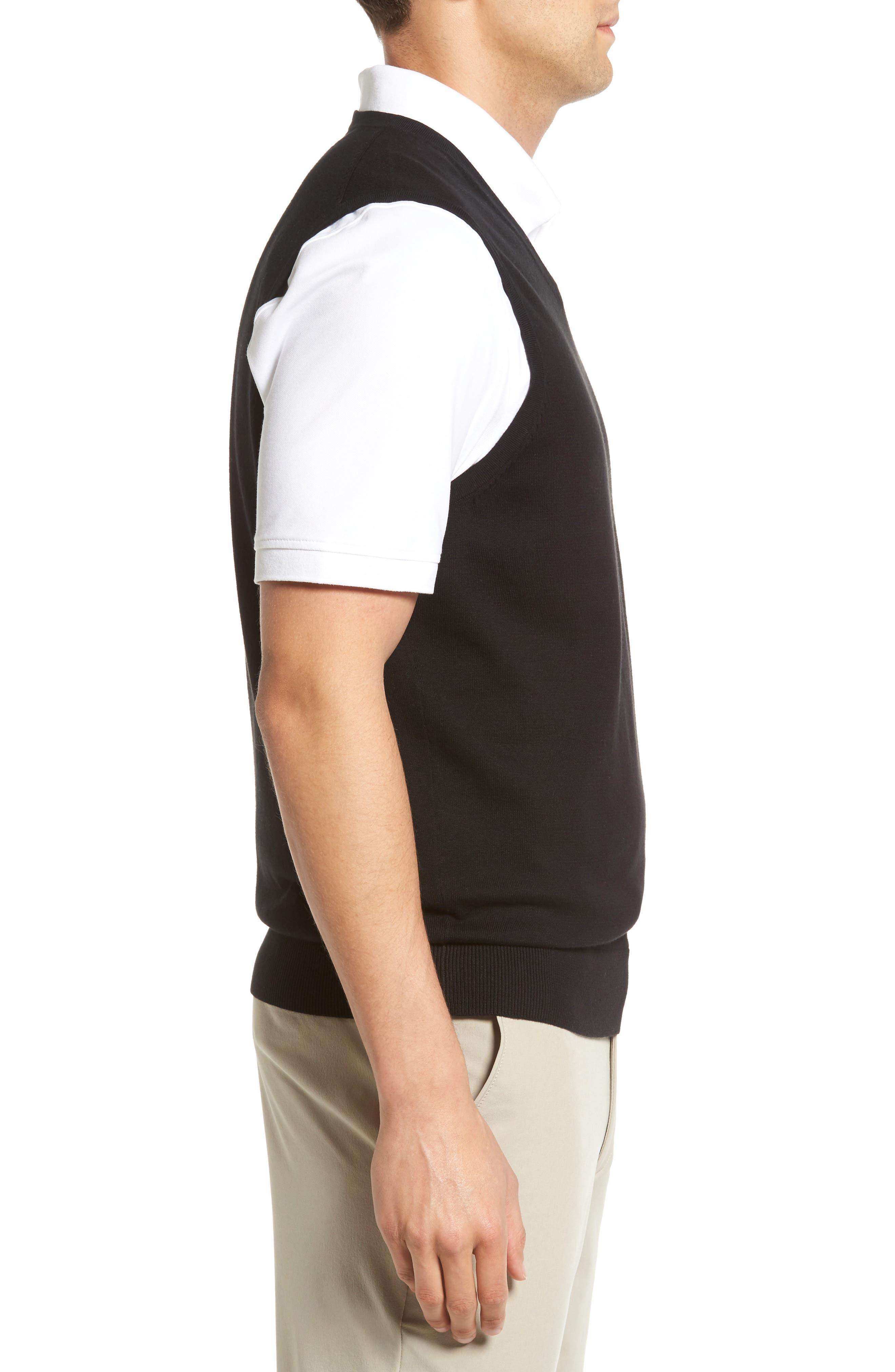 Lakemont V-Neck Sweater Vest,                             Alternate thumbnail 3, color,                             BLACK