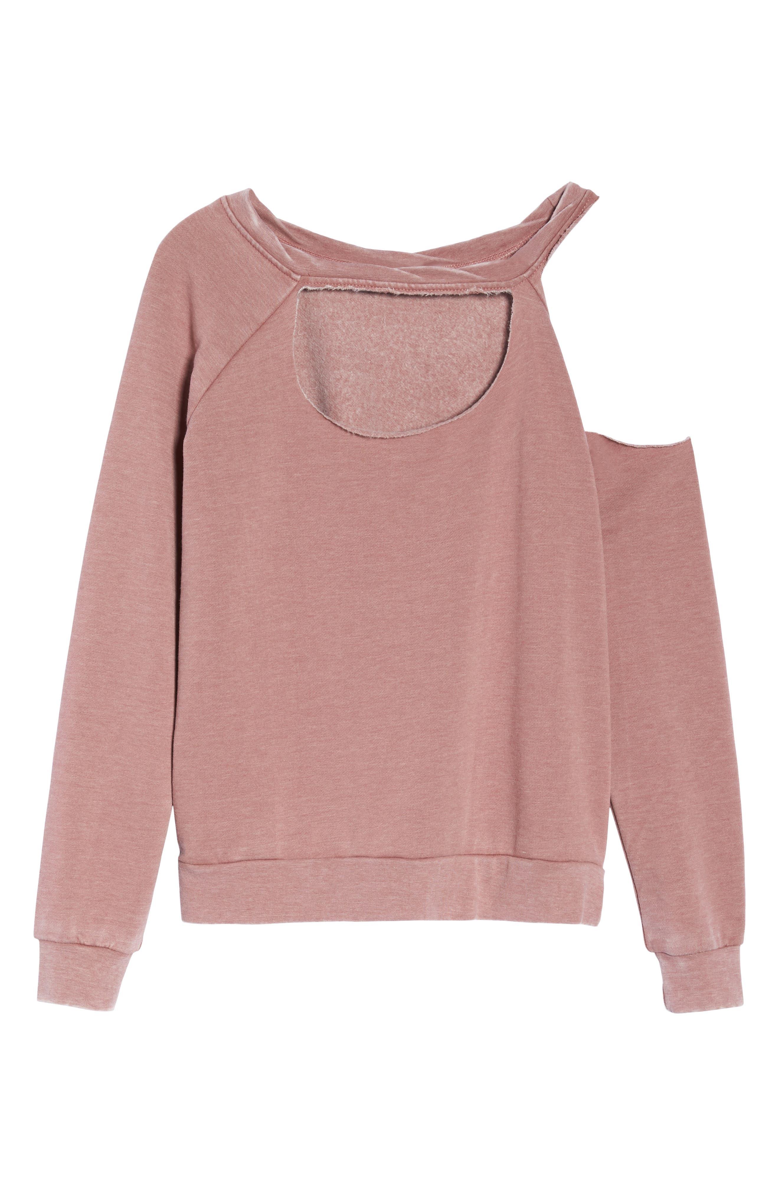 Colder Destroyed Sweatshirt,                             Alternate thumbnail 6, color,                             930