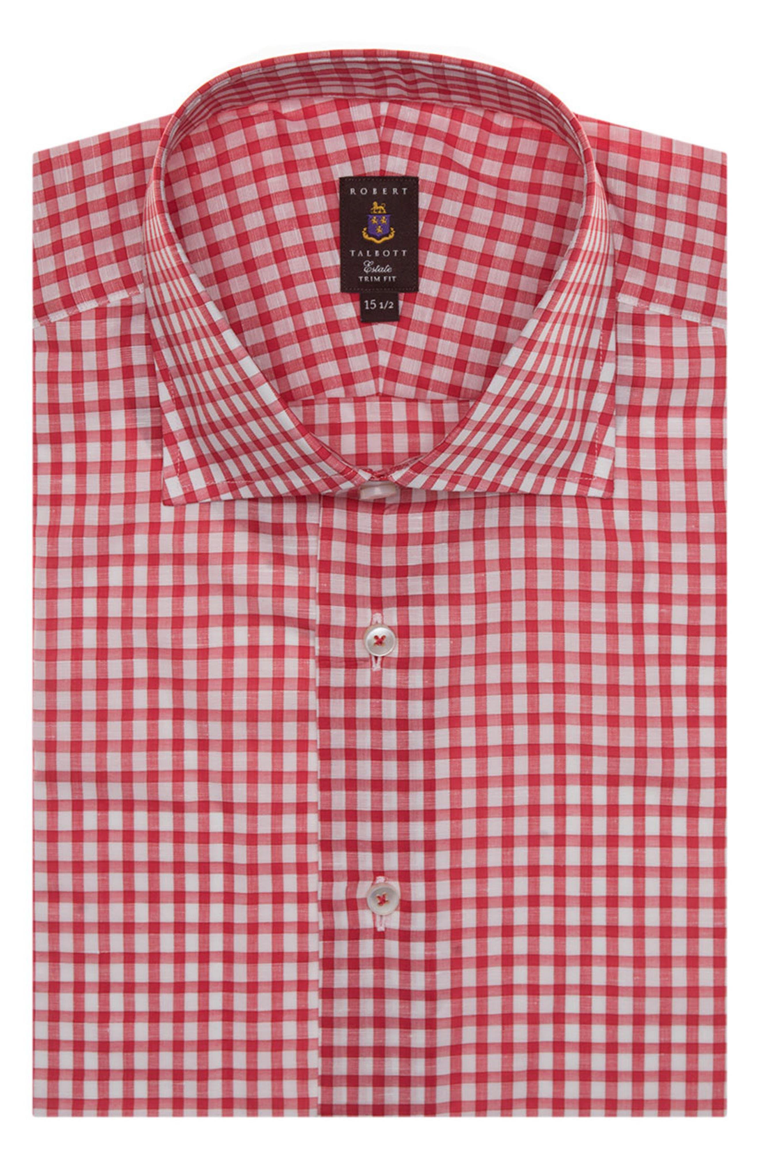 Tailored Fit Check Dress Shirt,                             Main thumbnail 1, color,                             620