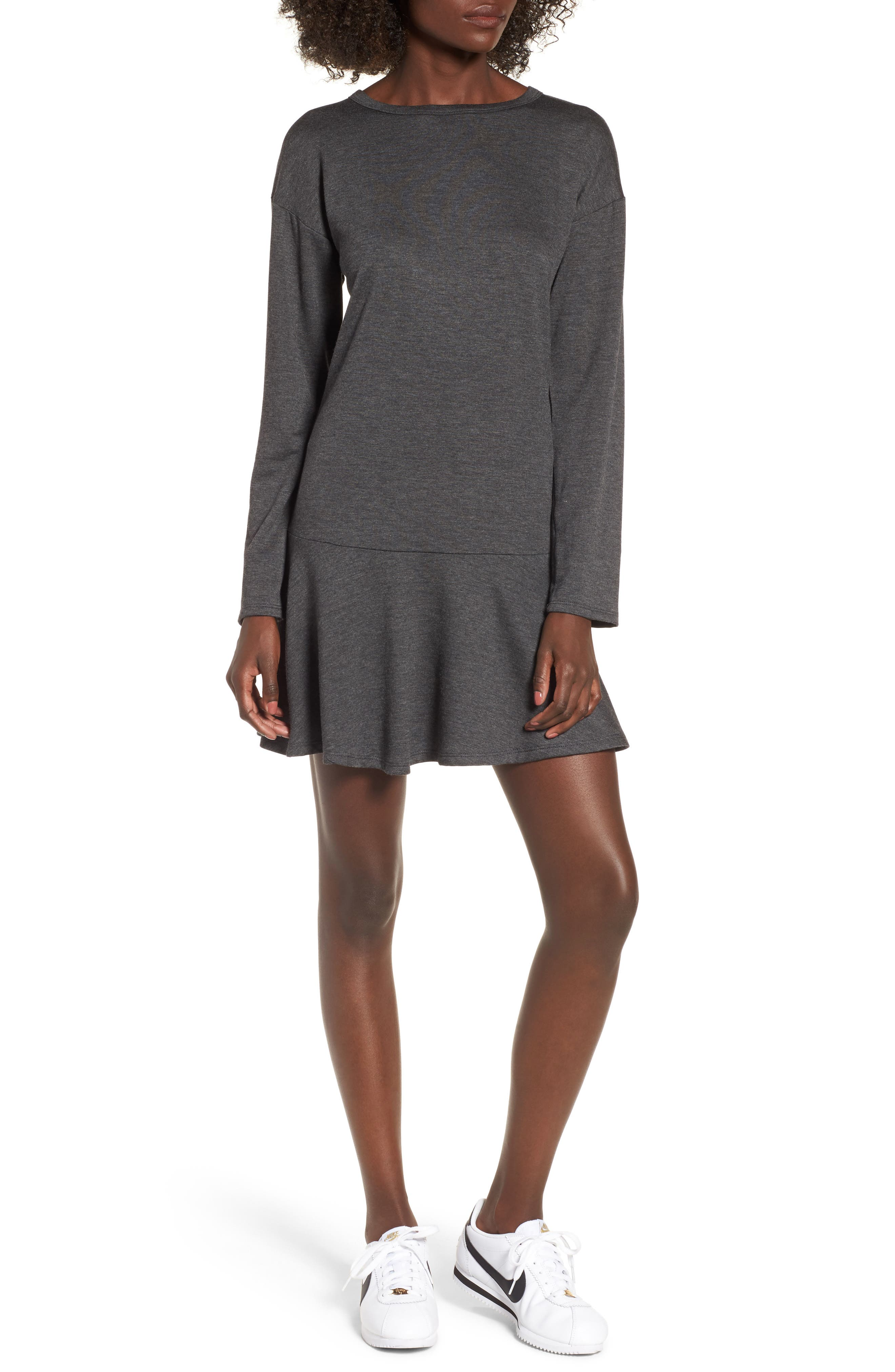 Drop Waist Sweatshirt Dress,                             Main thumbnail 1, color,