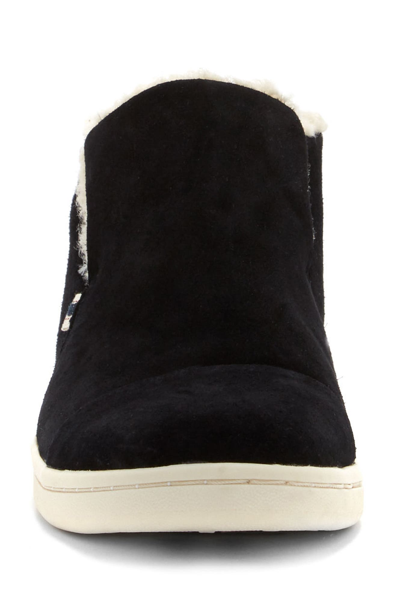 Cambon Faux-Shearling Lined Bootie,                             Alternate thumbnail 3, color,                             002