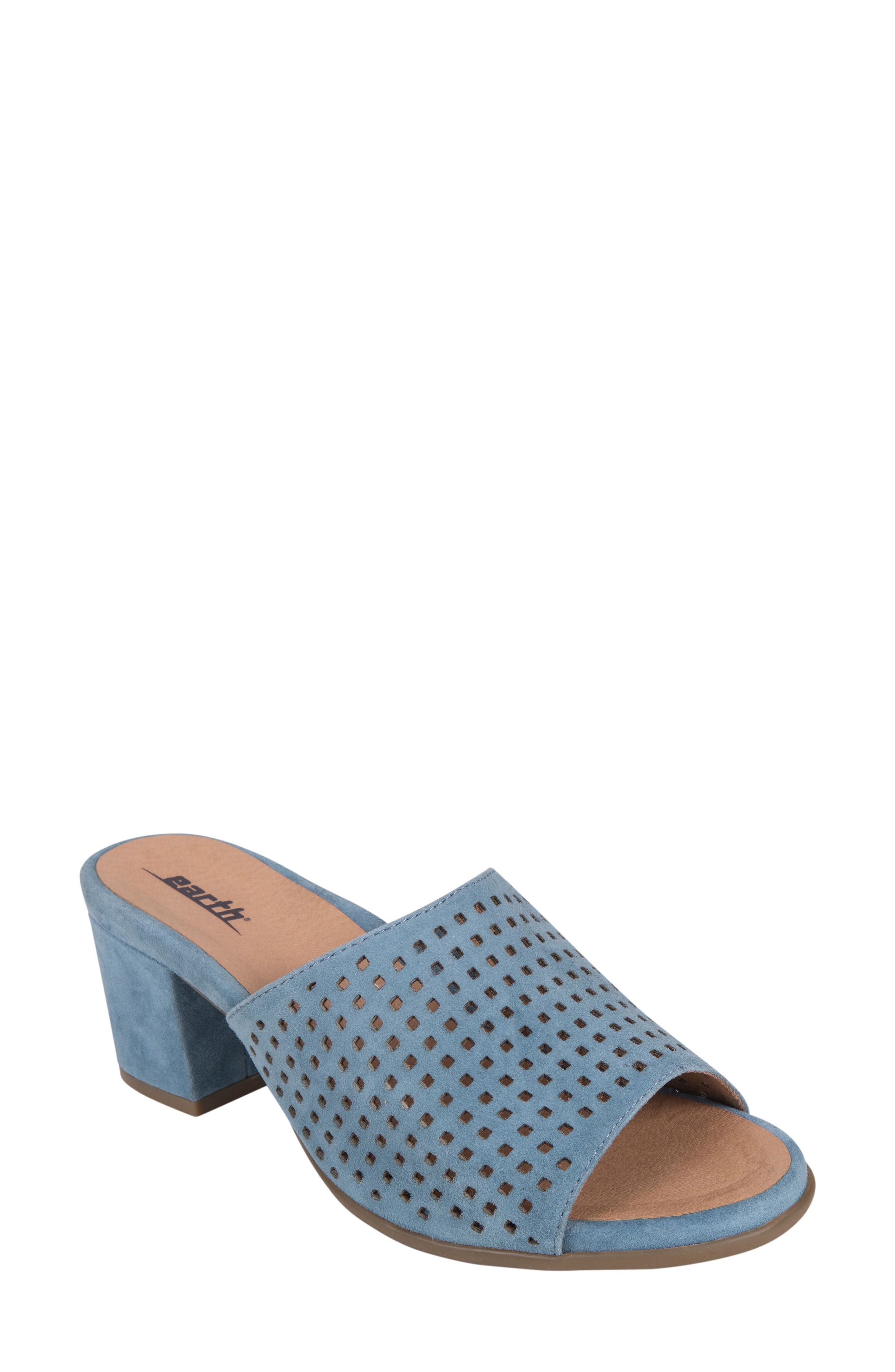 Ibiza Perforated Sandal,                         Main,                         color, SKY BLUE SUEDE