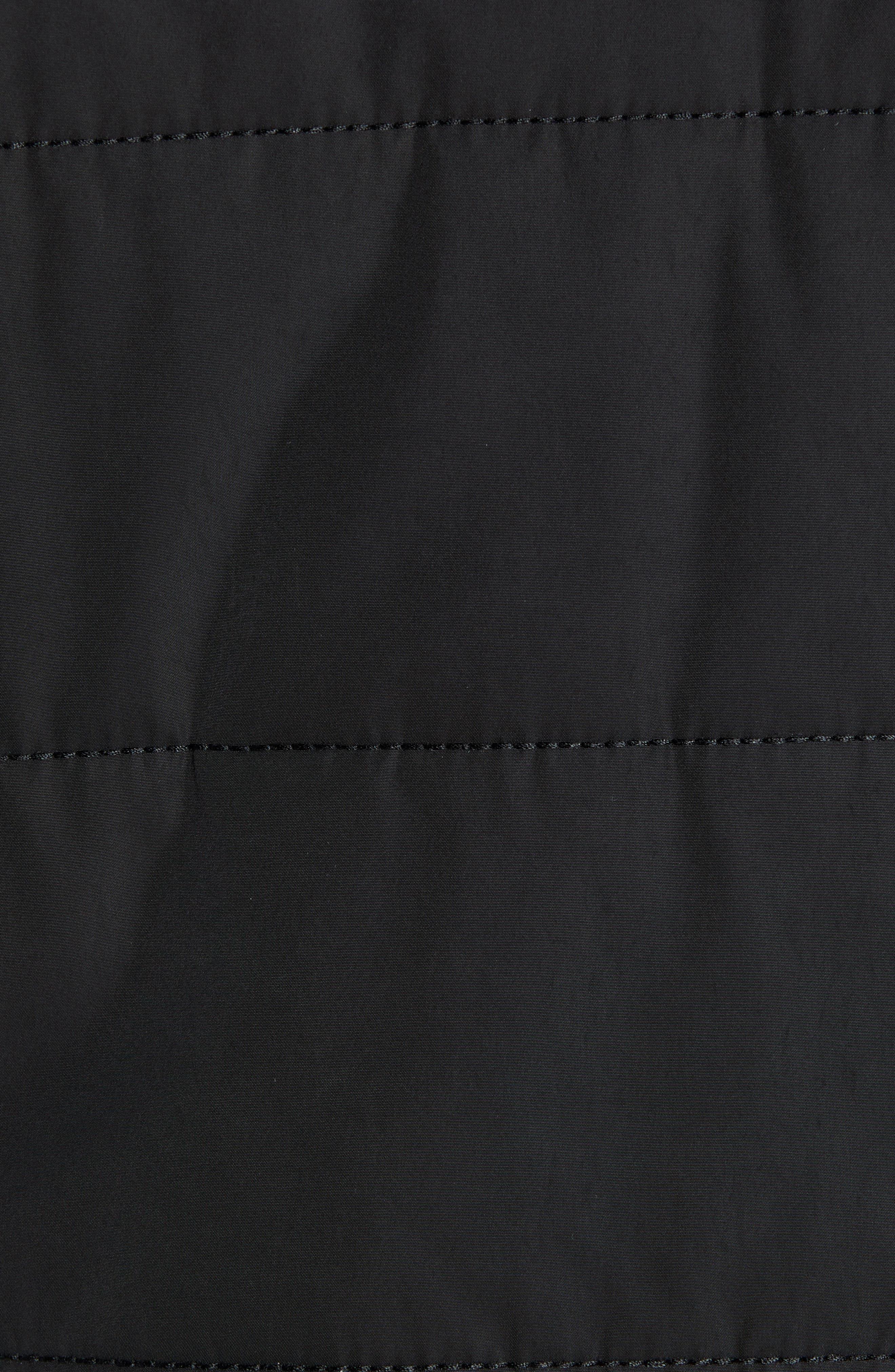 Skiles Quilted Zip Hoodie,                             Alternate thumbnail 6, color,                             BLACK