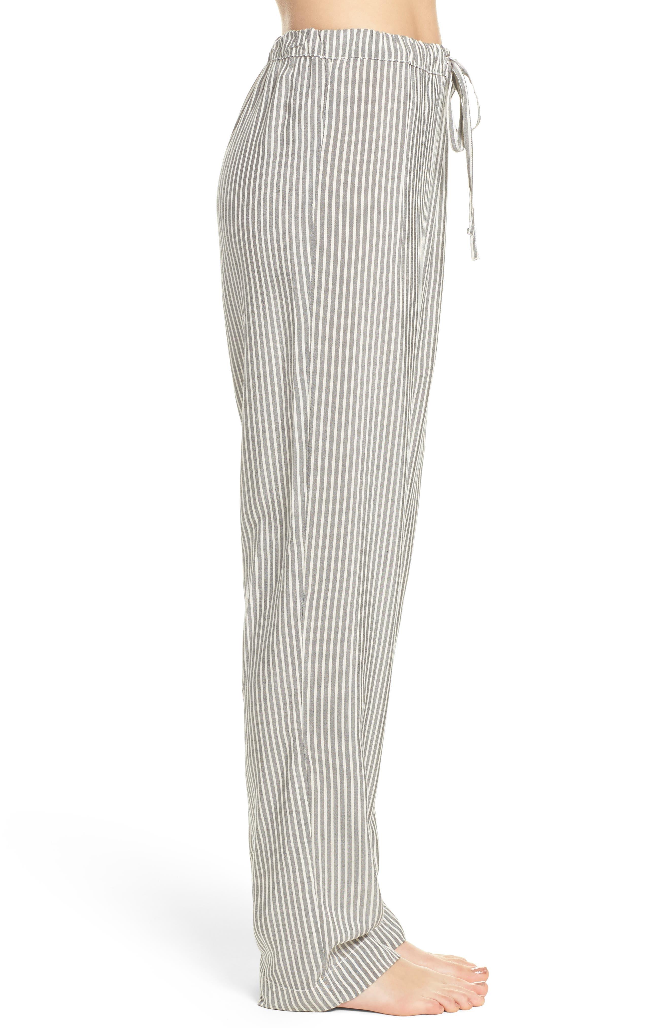 Stripe Pajama Pants,                             Alternate thumbnail 3, color,                             020