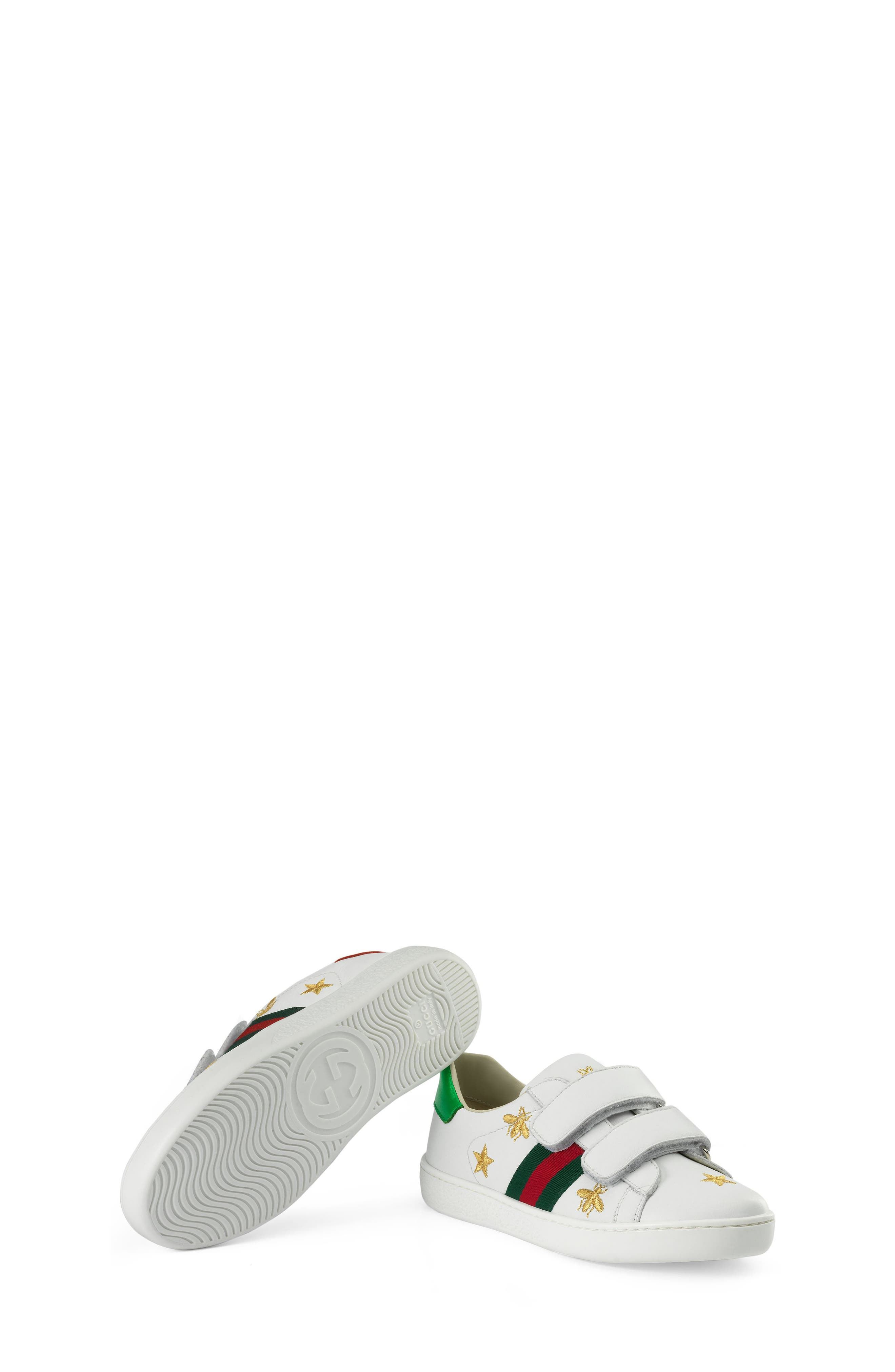 New Ace Embroidered Sneaker,                             Alternate thumbnail 6, color,                             WHITE STAR