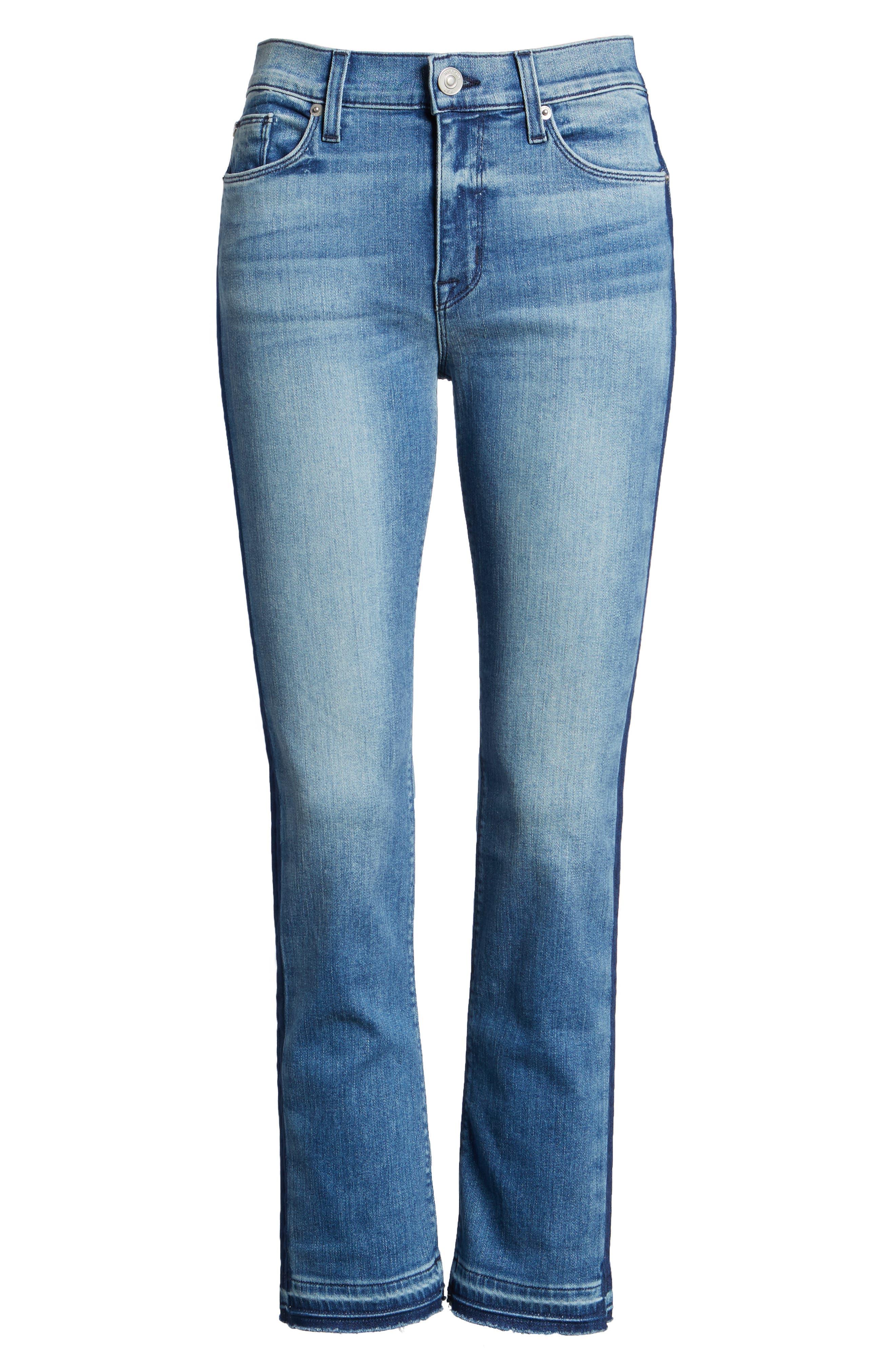 Tilda Crop Straight Leg Jeans,                             Alternate thumbnail 6, color,                             425