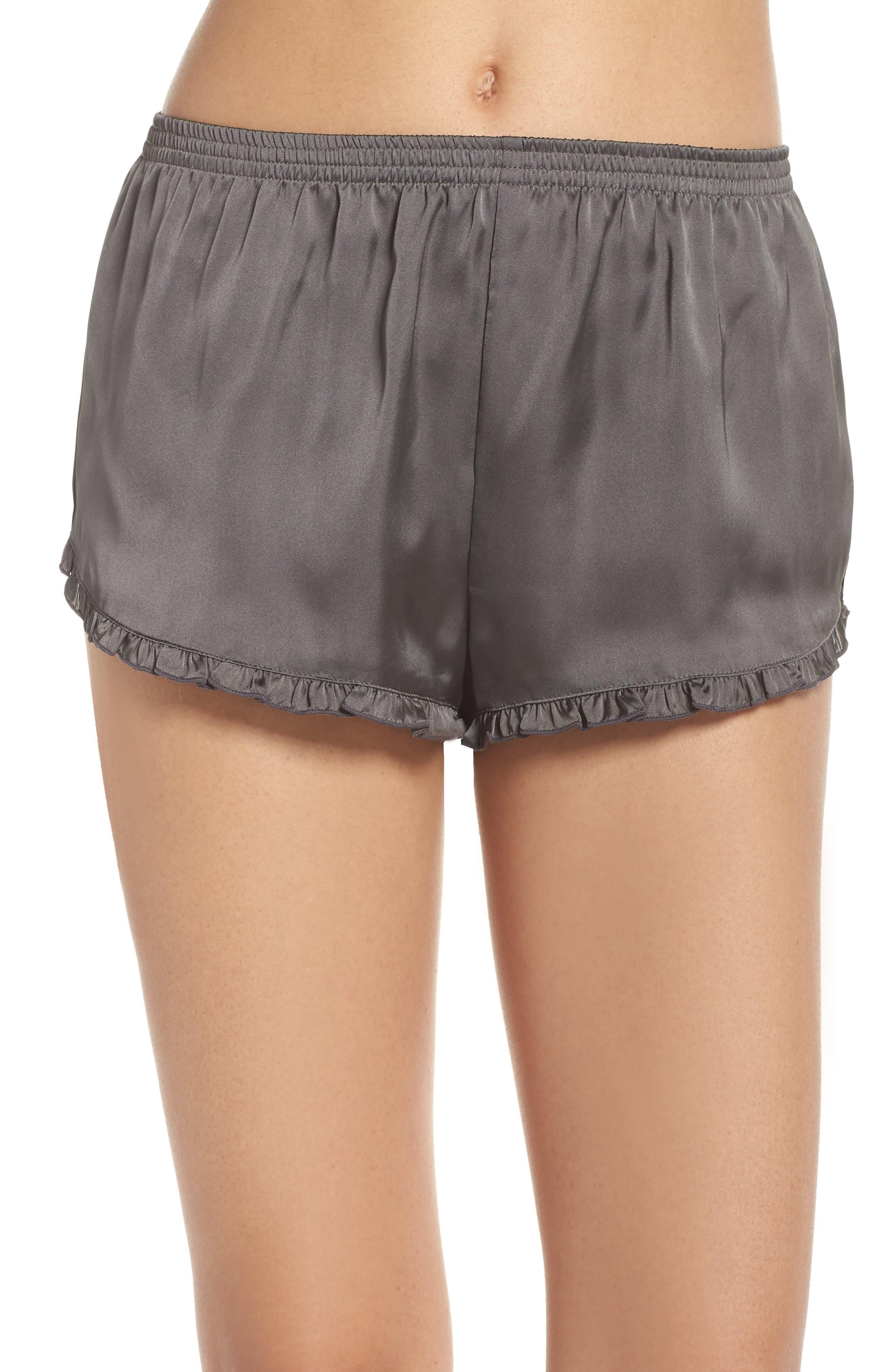 Satin Lounge Shorts,                             Main thumbnail 1, color,                             022