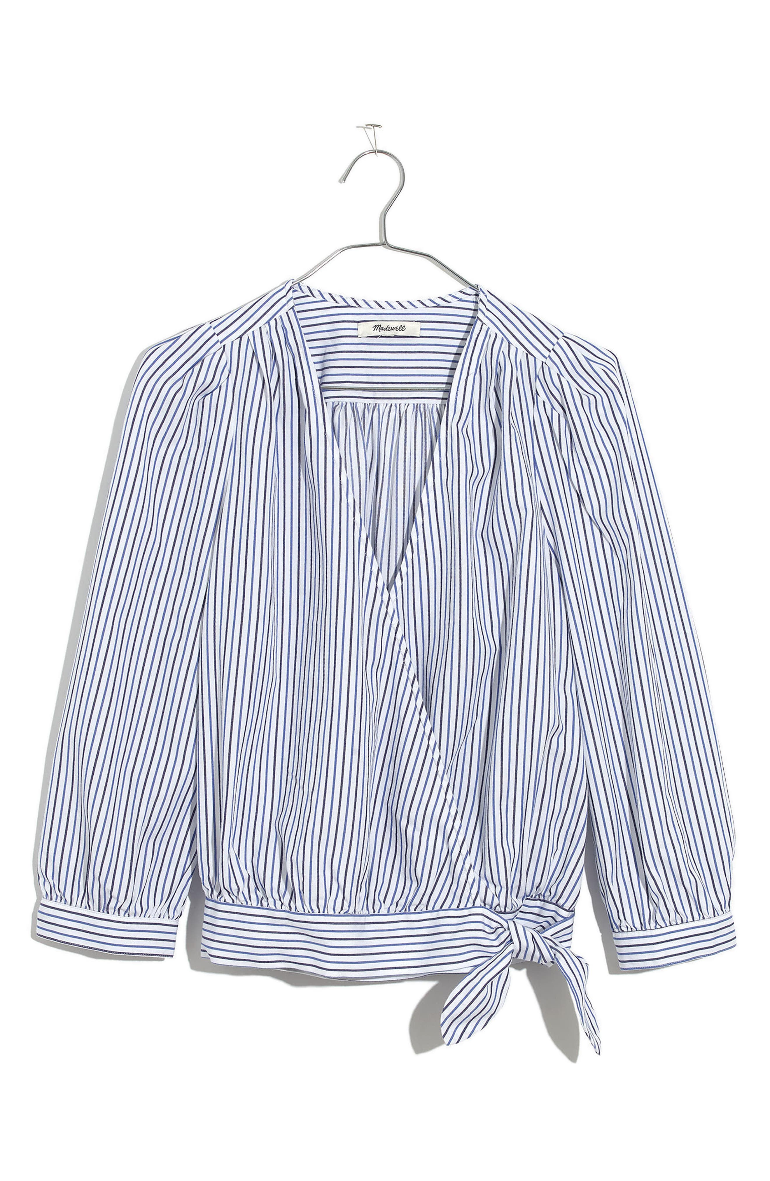 Albury Stripe Wrap Top,                             Alternate thumbnail 3, color,                             400