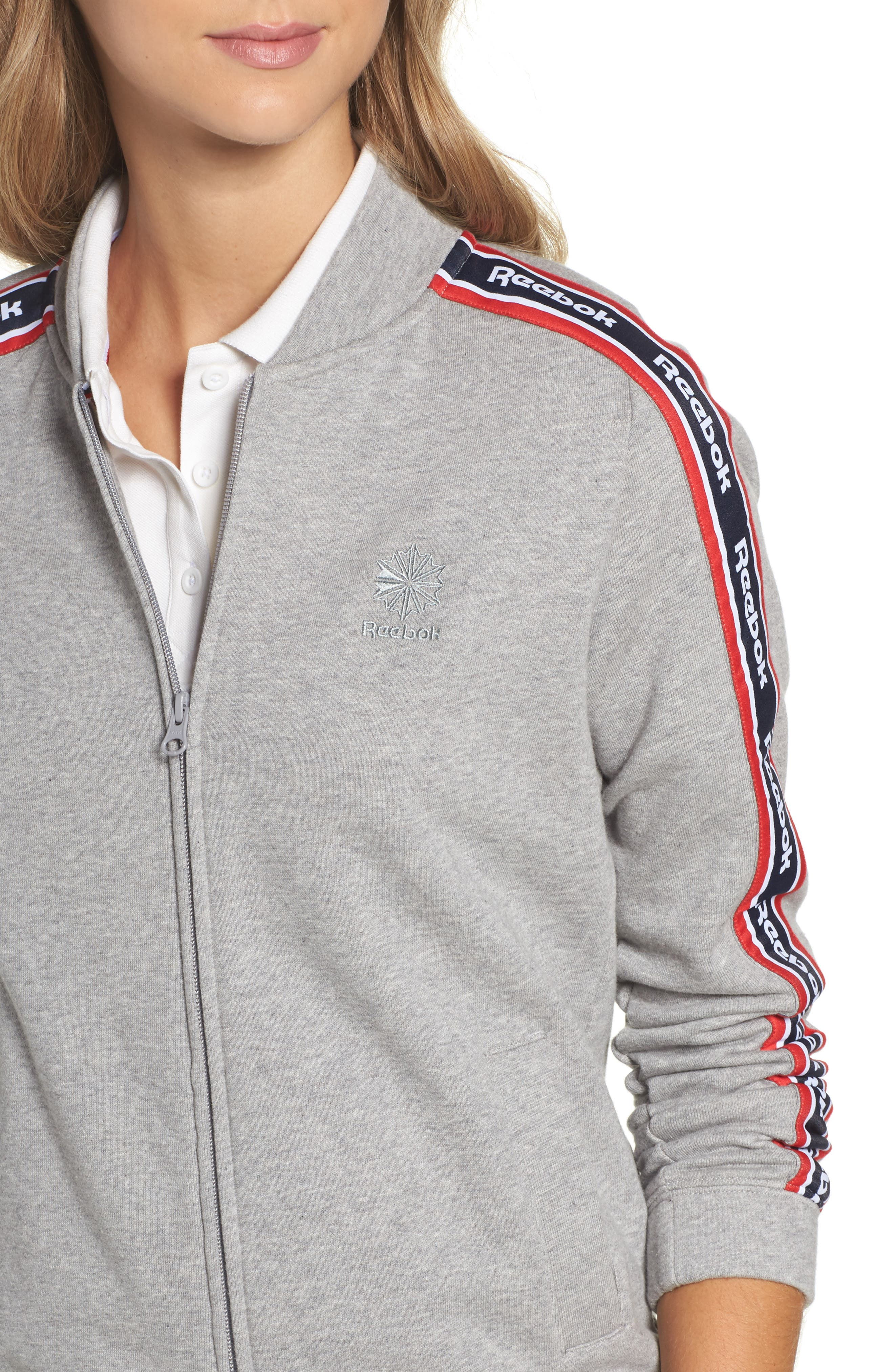 Coach French Terry Jacket,                             Alternate thumbnail 4, color,                             065