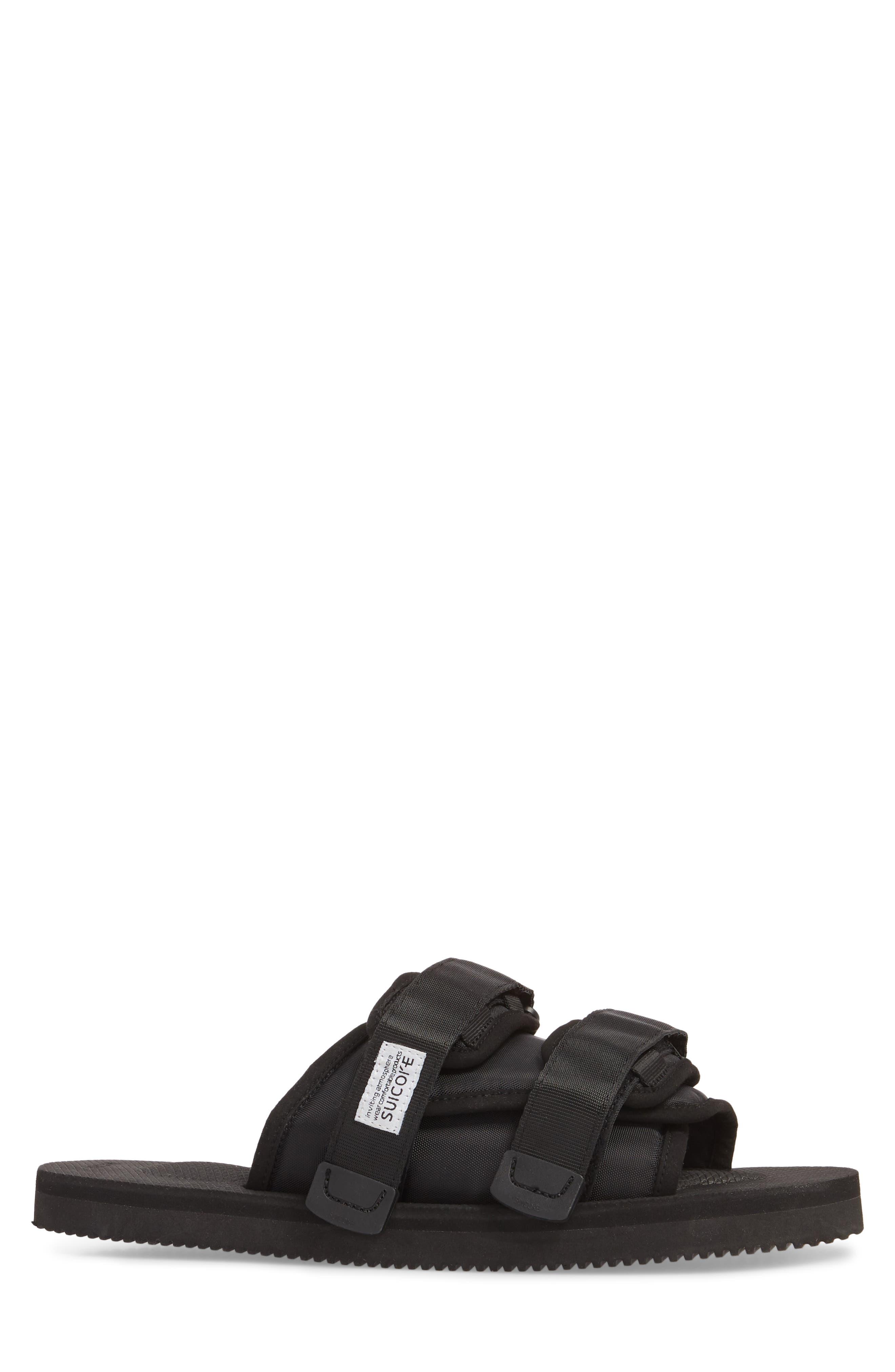 Moto Cab Slide Sandal,                             Alternate thumbnail 3, color,                             001